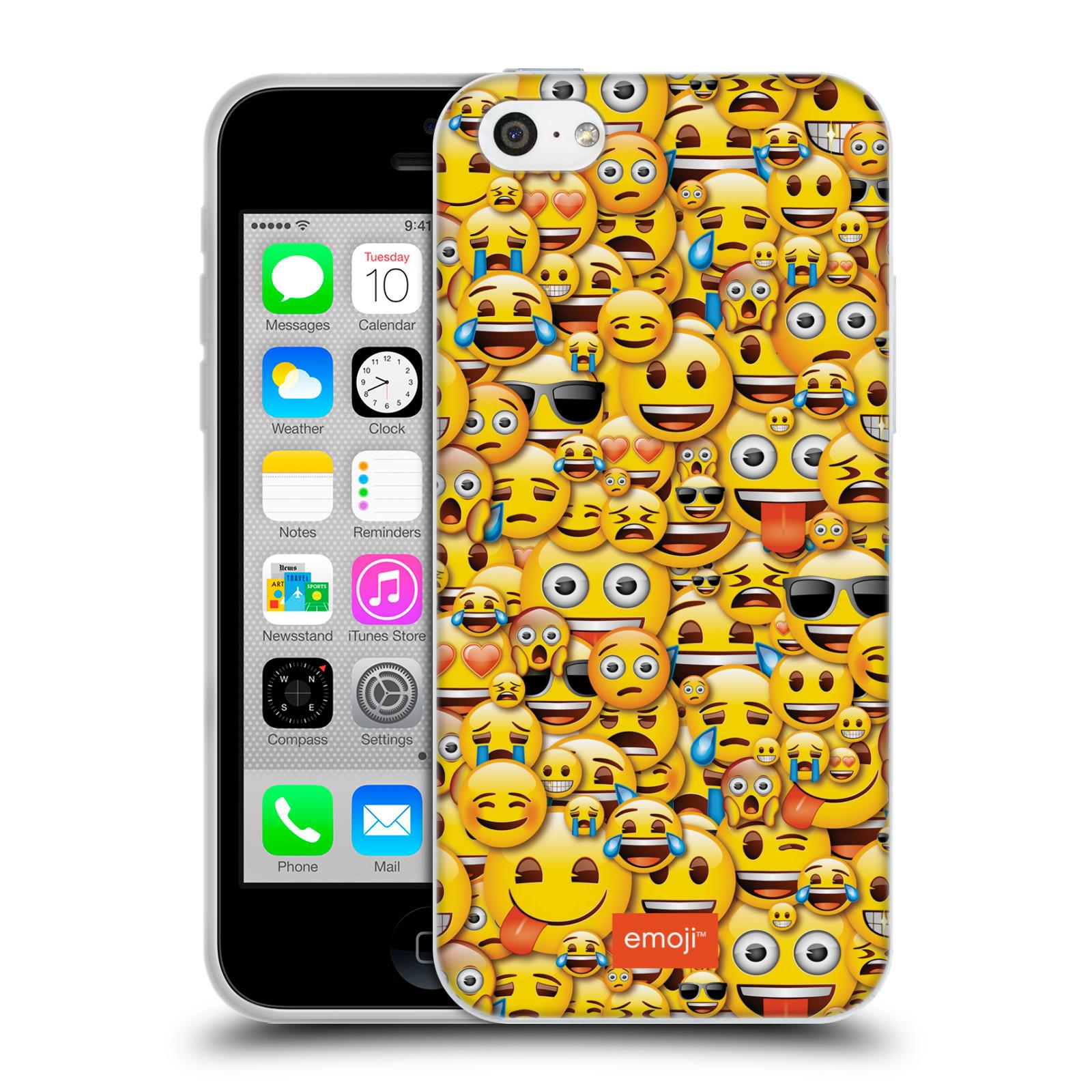 HEAD CASE silikonový obal na mobil Apple Iphone 5C smajlíci oficiální kryt  EMOJI vzor smajlící žlutá hromada d5eccfc26c3