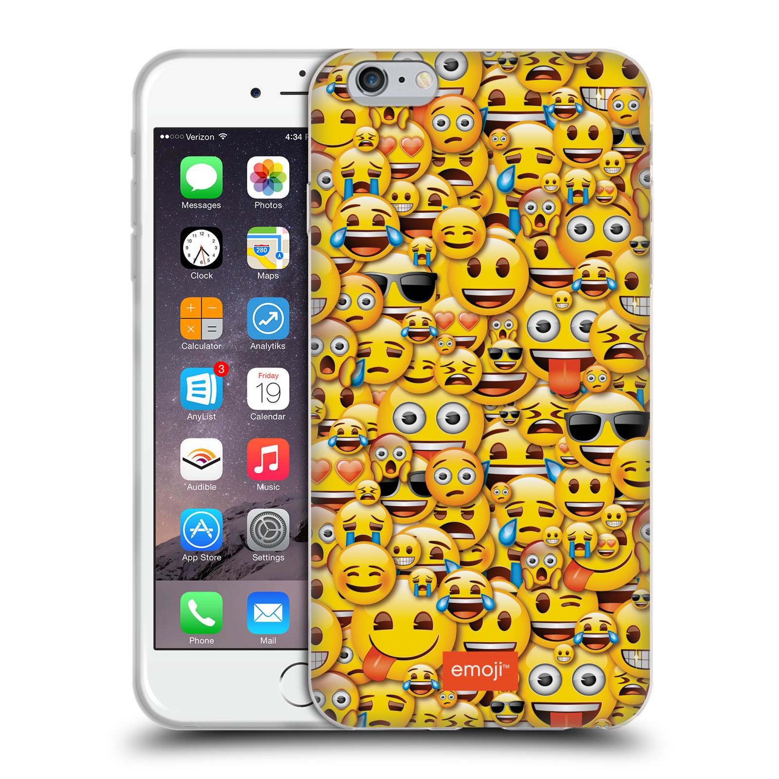 HEAD CASE silikonový obal na mobil Apple Iphone 6/6S PLUS smajlíci oficiální kryt EMOJI vzor smajlící žlutá hromada