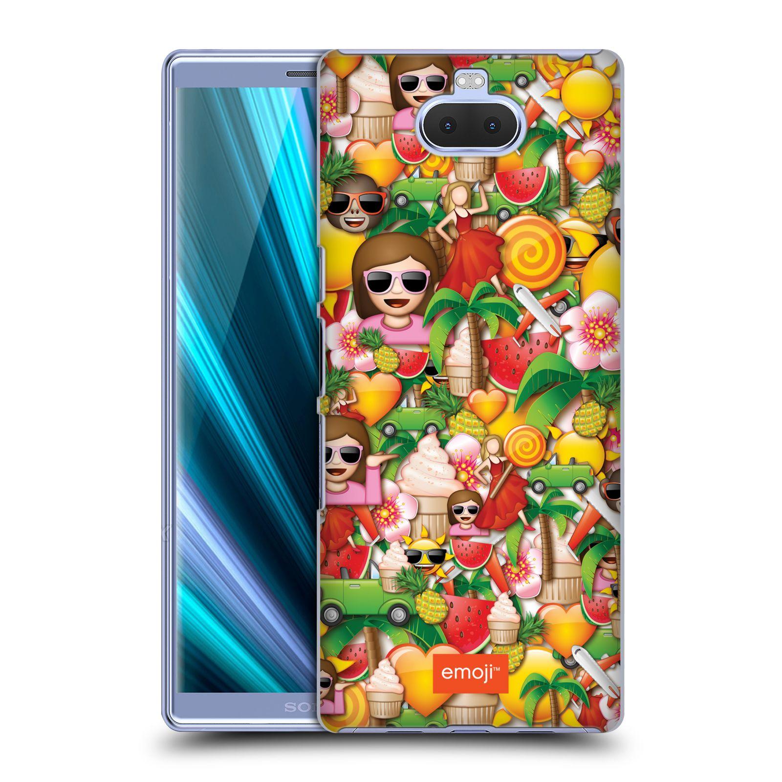 Pouzdro na mobil Sony Xperia 10 Plus - Head Case - smajlíci oficiální kryt EMOJI vzor smajlící a léto