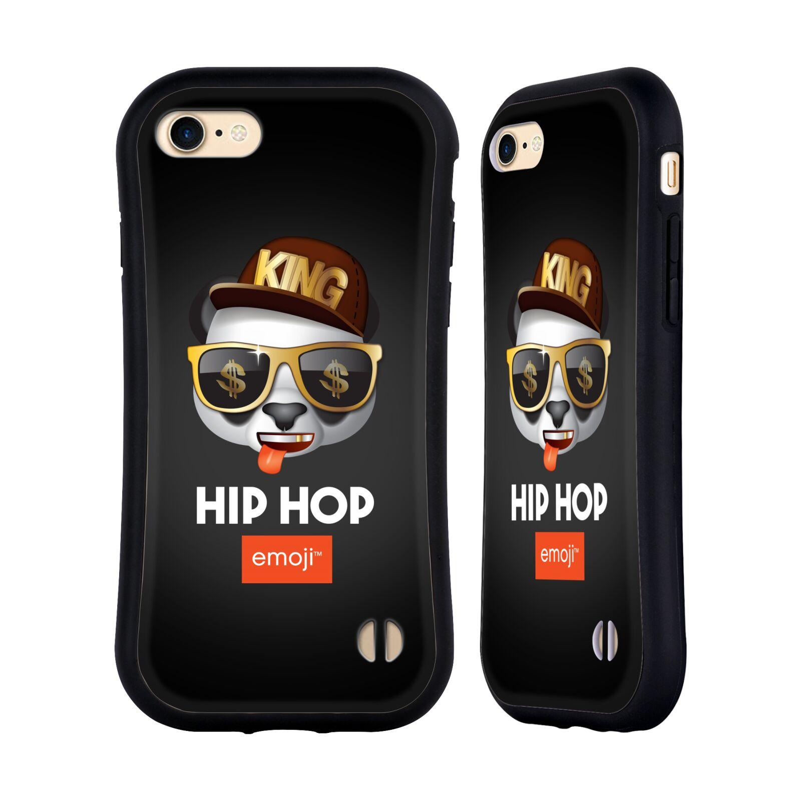 HEAD CASE odolný obal na mobil Apple Iphone 8 oficiální kryt EMOJI hudba hudební styl HIP HOP