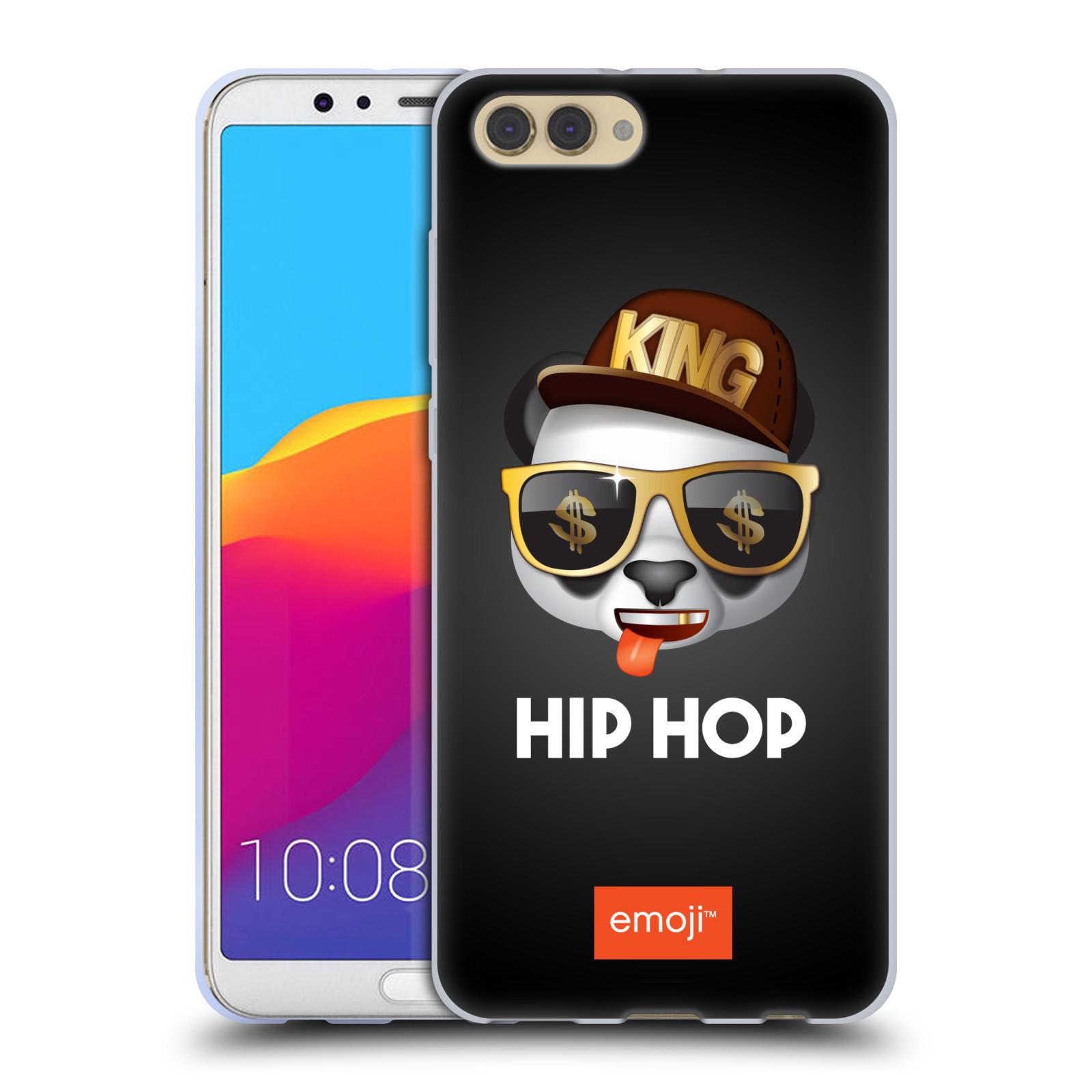 HEAD CASE silikonový obal na mobil Huawei HONOR VIEW 10 / V10 oficiální kryt EMOJI hudba hudební styl HIP HOP