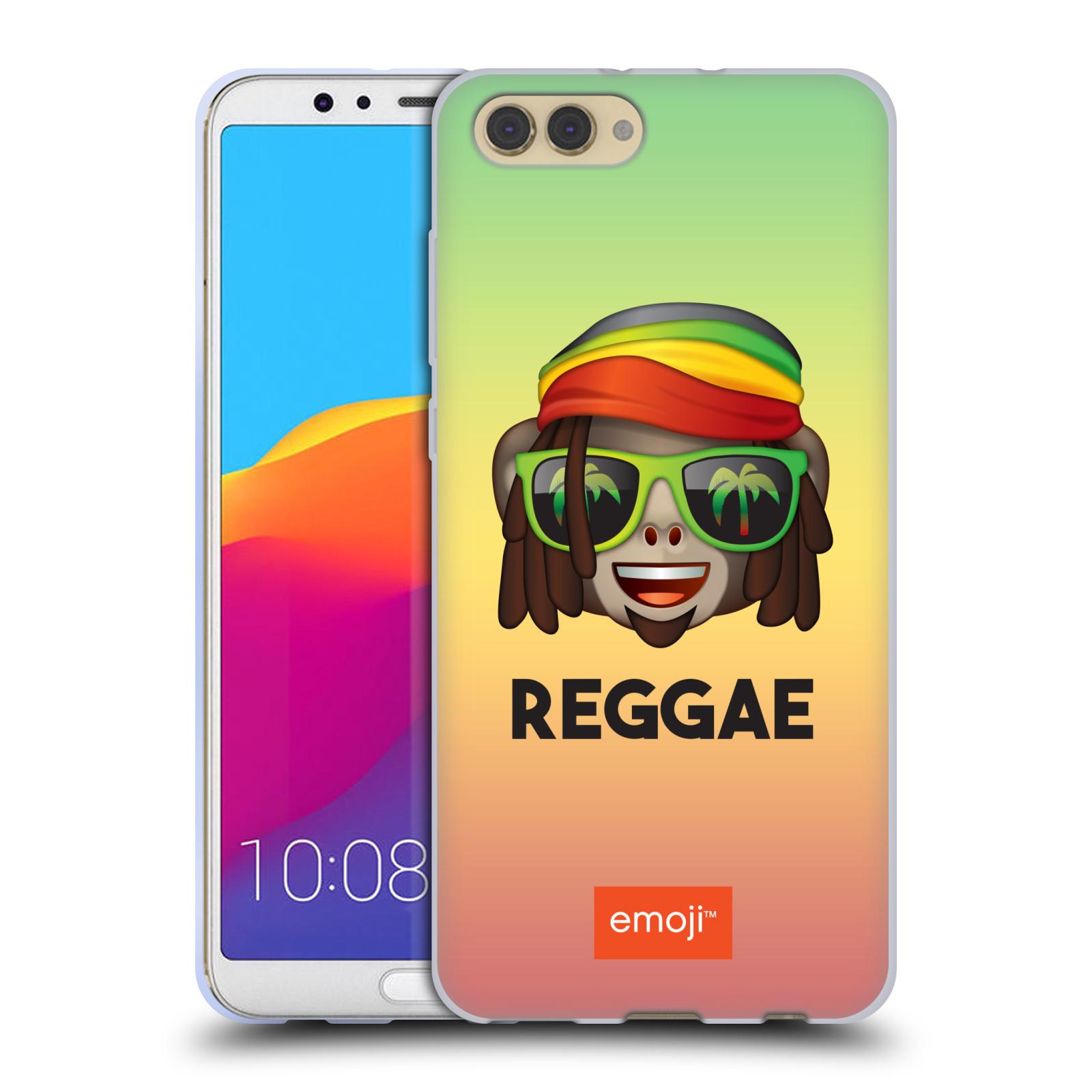 HEAD CASE silikonový obal na mobil Huawei HONOR VIEW 10 / V10 oficiální kryt EMOJI hudba hudební styl Reggae