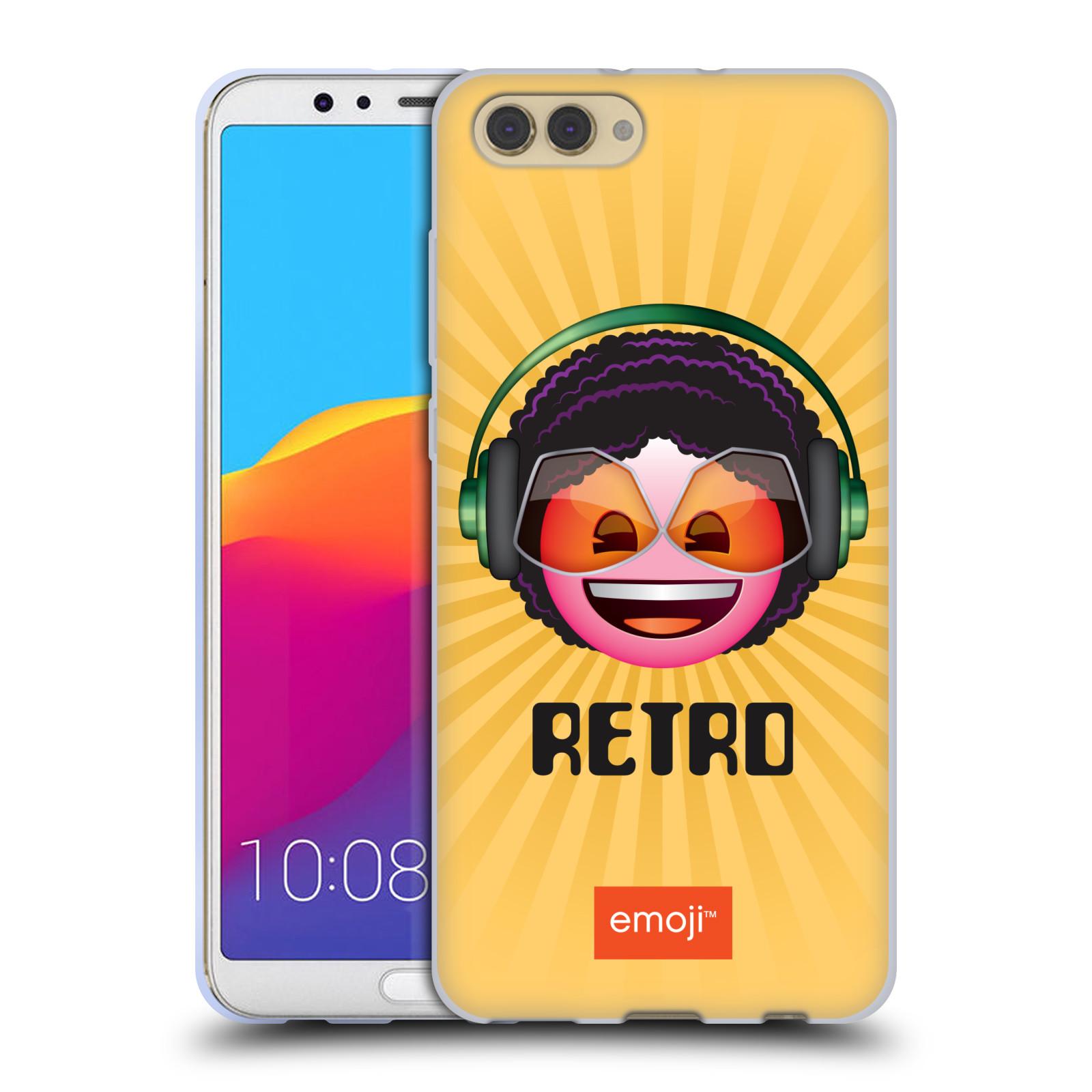 HEAD CASE silikonový obal na mobil Huawei HONOR VIEW 10 / V10 oficiální kryt EMOJI hudba hudební styl RETRO