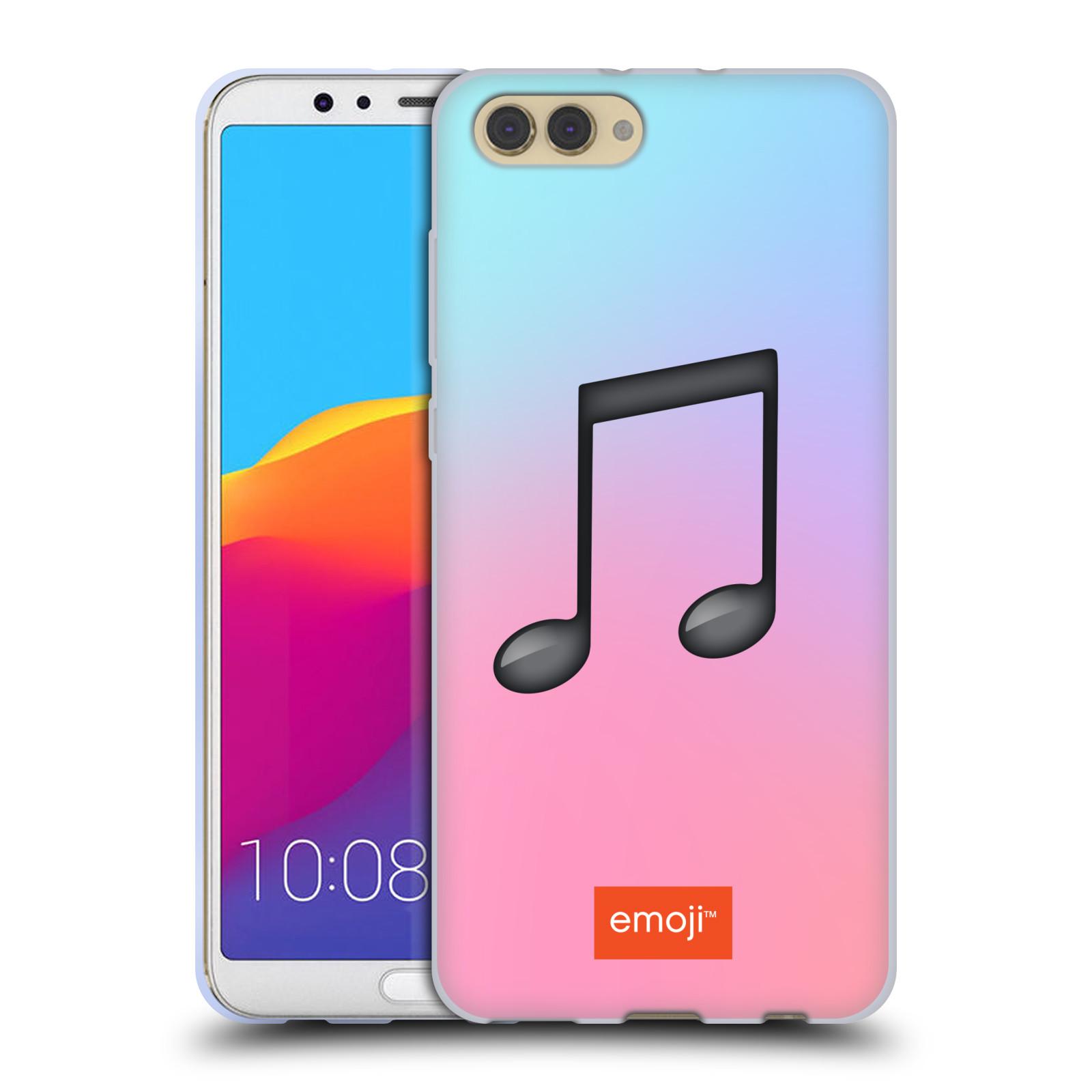 HEAD CASE silikonový obal na mobil Huawei HONOR VIEW 10 / V10 oficiální kryt EMOJI hudba nota