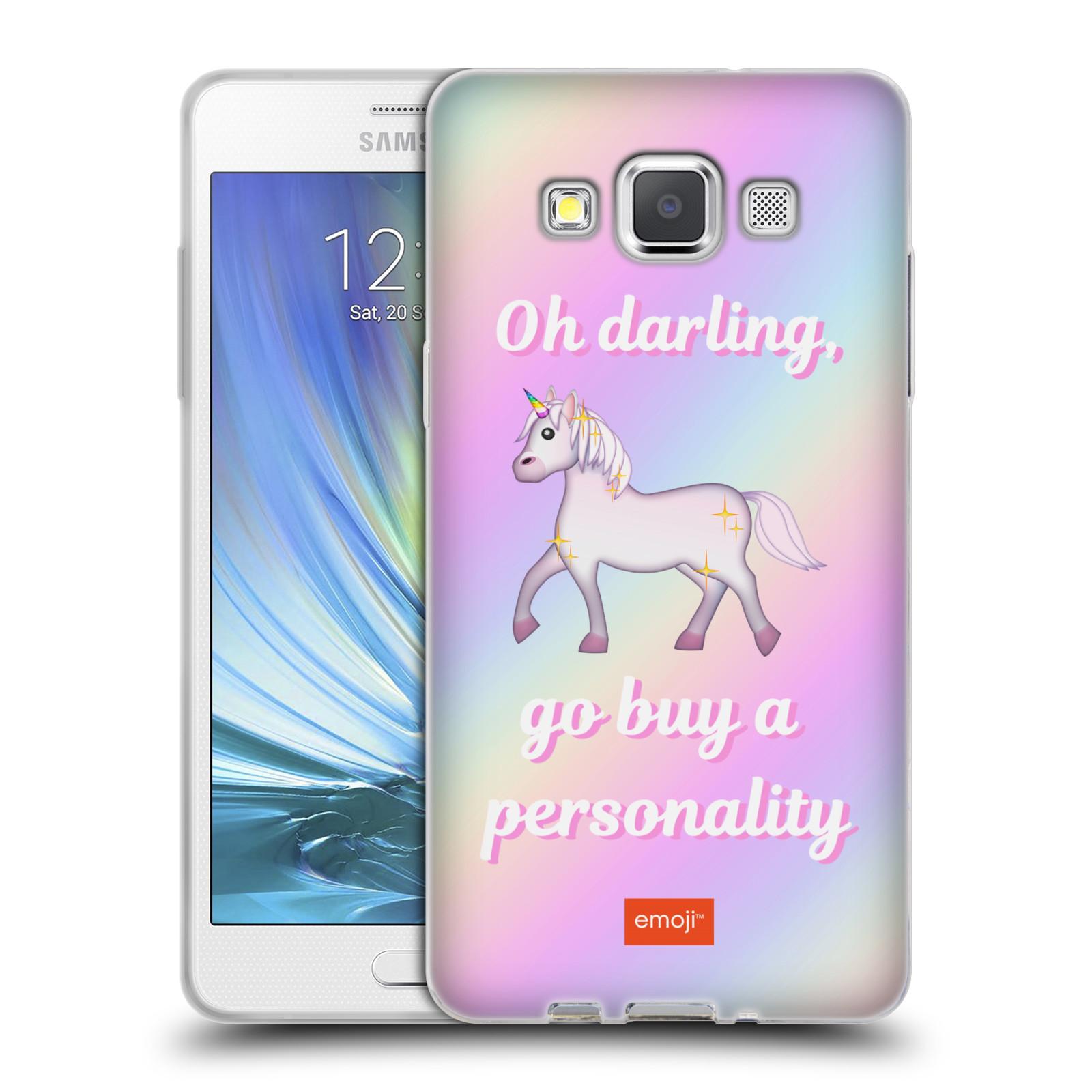 HEAD CASE silikonový obal na mobil Samsung Galaxy A5 (A500) smajlíci oficiální kryt EMOJI vzor klusající jednorožec