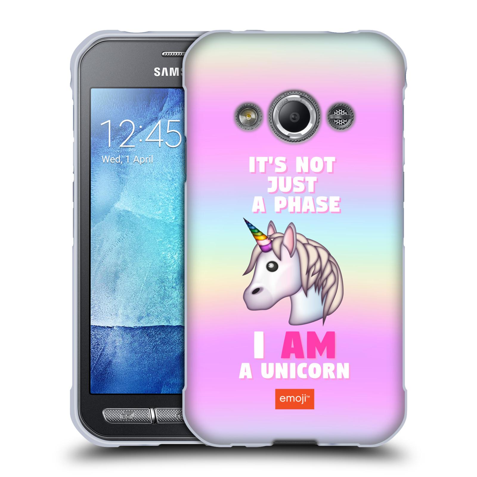 HEAD CASE silikonový obal na mobil Samsung Galaxy Xcover 3 smajlíci  oficiální kryt EMOJI vzor jednorožec růžová I AM UNICORN b30256098a4