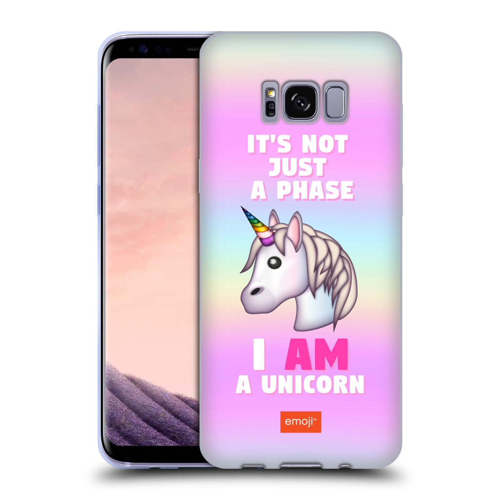 HEAD CASE silikonový obal na mobil Samsung Galaxy S8 smajlíci oficiální  kryt EMOJI vzor jednorožec růžová I AM UNICORN 6bfde97e494