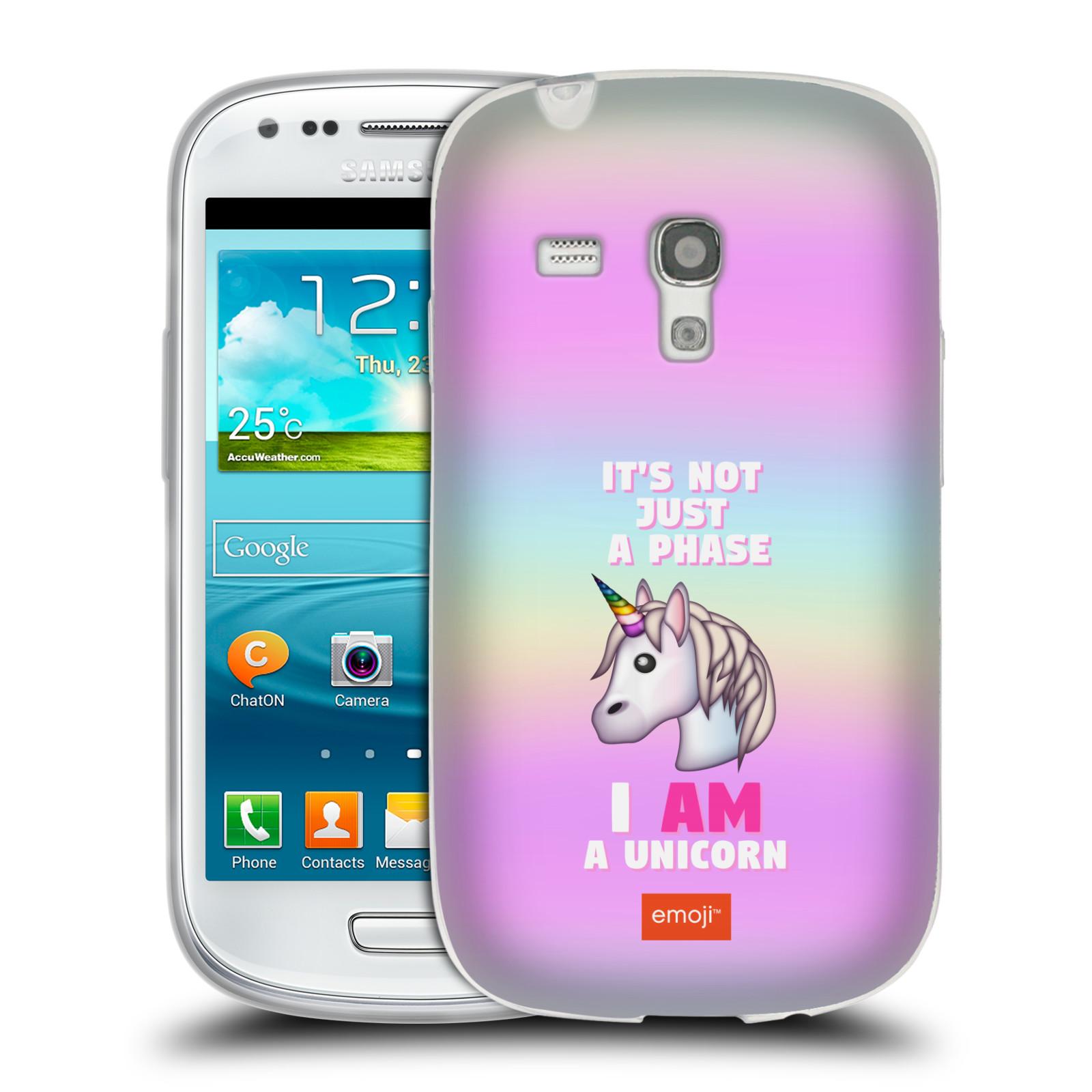 HEAD CASE silikonový obal na mobil Samsung Galaxy S3 MINI smajlíci  oficiální kryt EMOJI vzor jednorožec růžová I AM UNICORN 0b0604cfea8