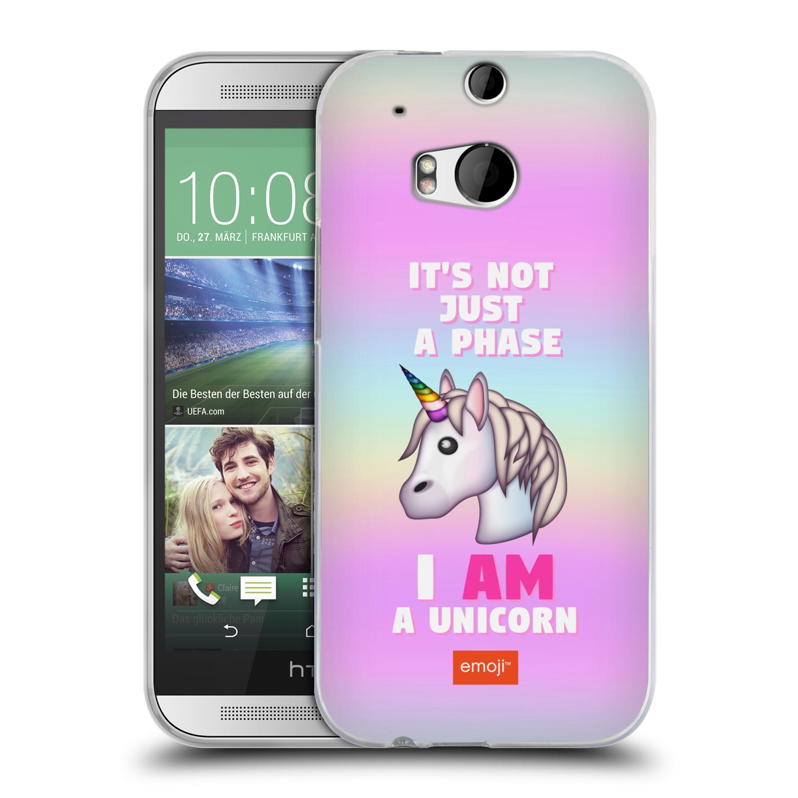HEAD CASE silikonový obal na mobil HTC one M8   M8s smajlíci oficiální kryt  EMOJI vzor jednorožec růžová I AM UNICORN 440f8aa3460