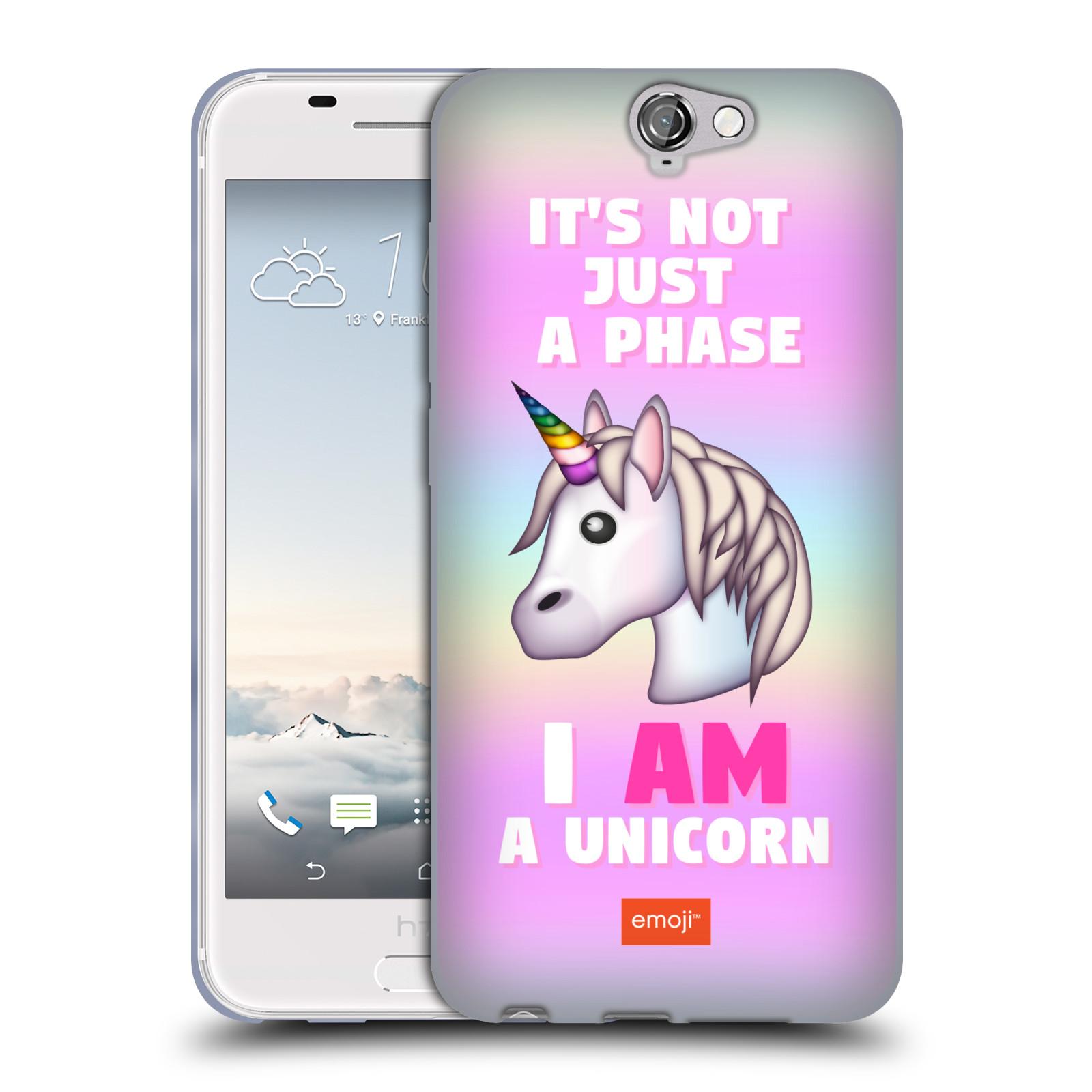 HEAD CASE silikonový obal na mobil HTC One A9 smajlíci oficiální kryt EMOJI  vzor jednorožec růžová I AM UNICORN e294033f233