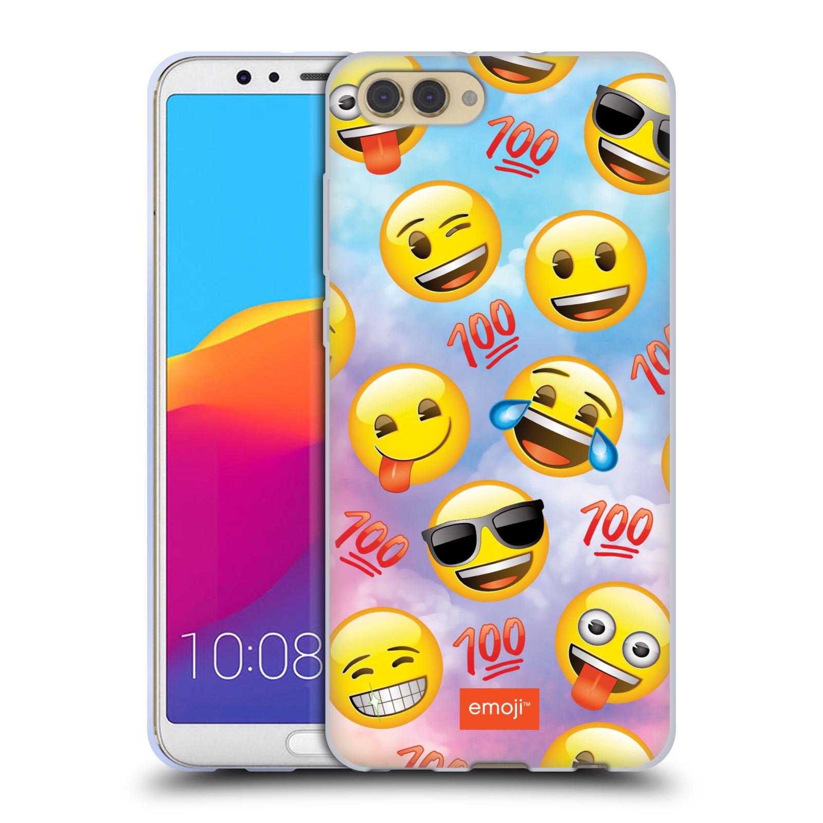 HEAD CASE silikonový obal na mobil Huawei HONOR VIEW 10 / V10 smajlík oficiální kryt EMOJI velký smajlík štastlivci