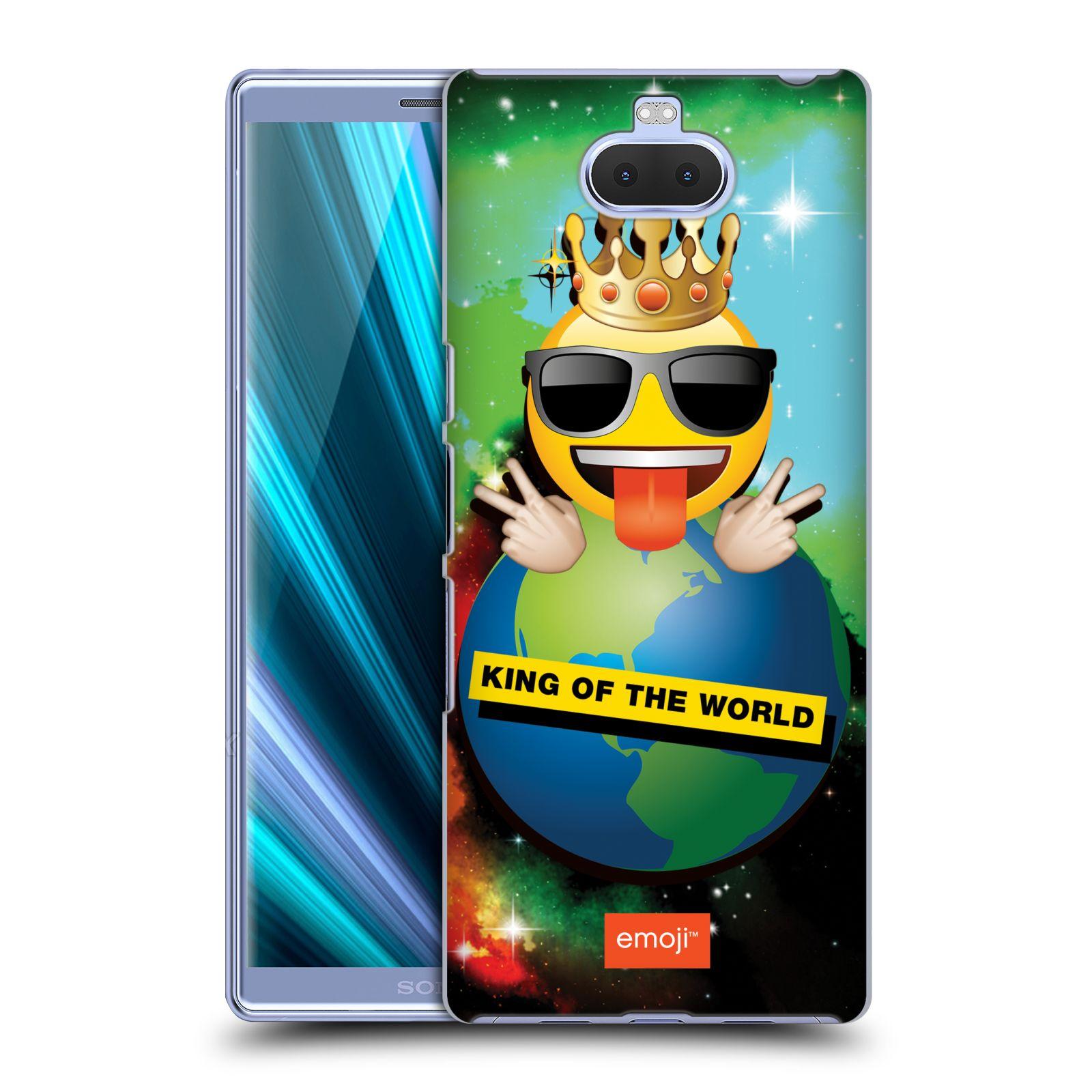 Pouzdro na mobil Sony Xperia 10 Plus - Head Case - smajlík oficiální kryt EMOJI velký smajlík král světa