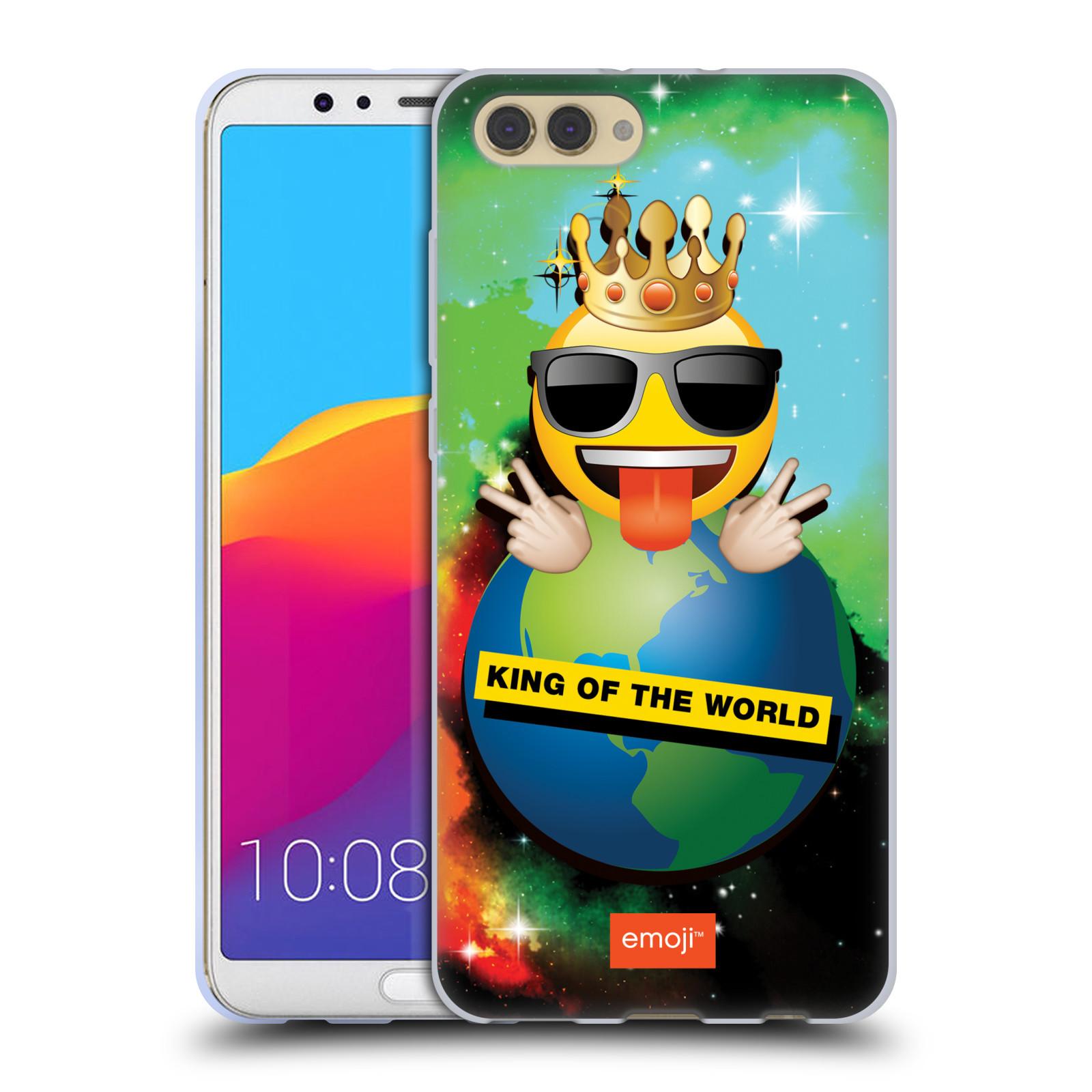 HEAD CASE silikonový obal na mobil Huawei HONOR VIEW 10 / V10 smajlík oficiální kryt EMOJI velký smajlík král světa