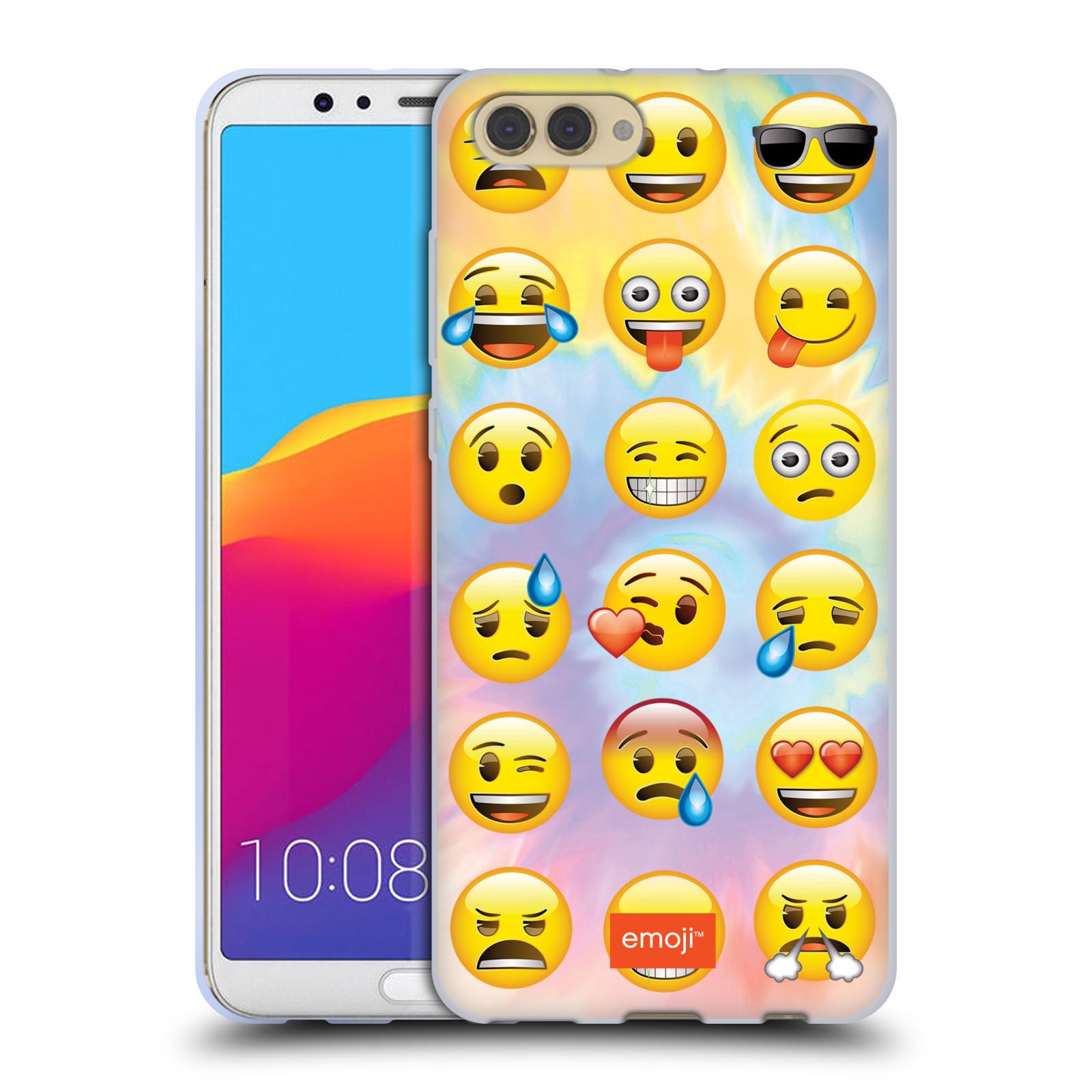 HEAD CASE silikonový obal na mobil Huawei HONOR VIEW 10 / V10 smajlík oficiální kryt EMOJI nálada