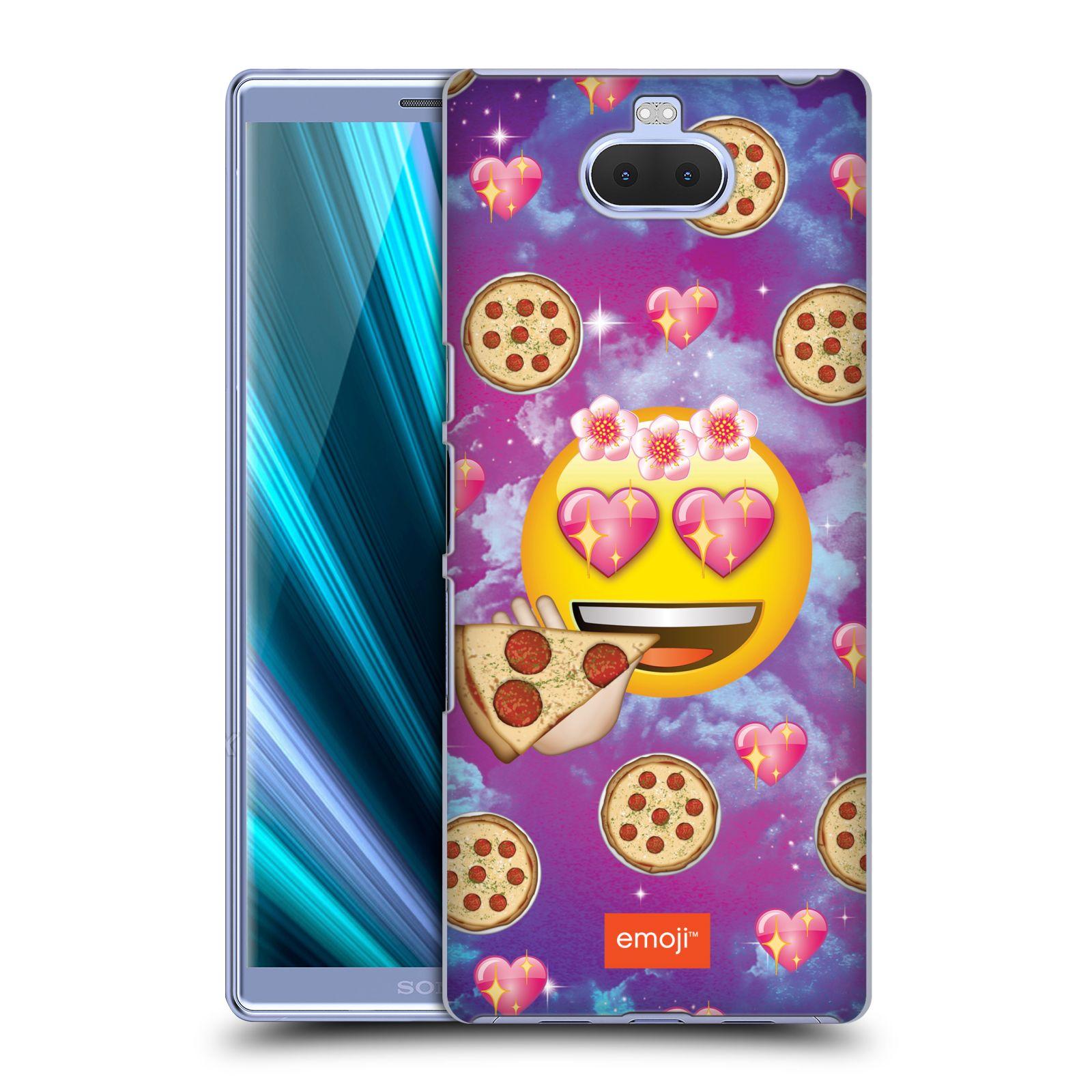 Pouzdro na mobil Sony Xperia 10 Plus - Head Case - smajlík oficiální kryt EMOJI velký smajlík milovník pizzy