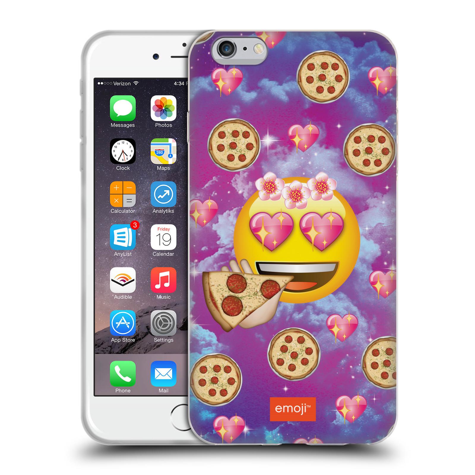 HEAD CASE silikonový obal na mobil Apple Iphone 6 6S PLUS smajlík oficiální  kryt EMOJI velký smajlík milovník pizzy a093949bbb5