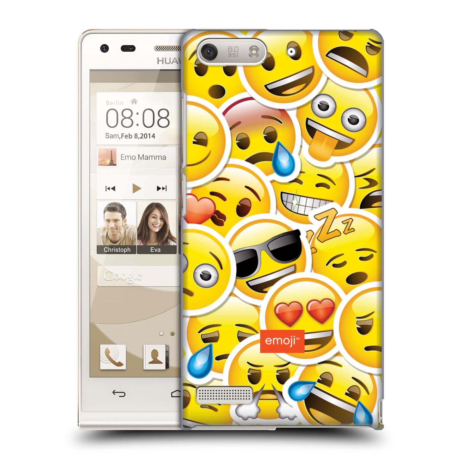 Plastové pouzdro na mobil Huawei Ascend G6 HEAD CASE EMOJI - Velcí smajlíci ZZ (Kryt či obal s oficiálním motivem EMOJI na mobilní telefon Huawei Ascend G6 bez LTE)