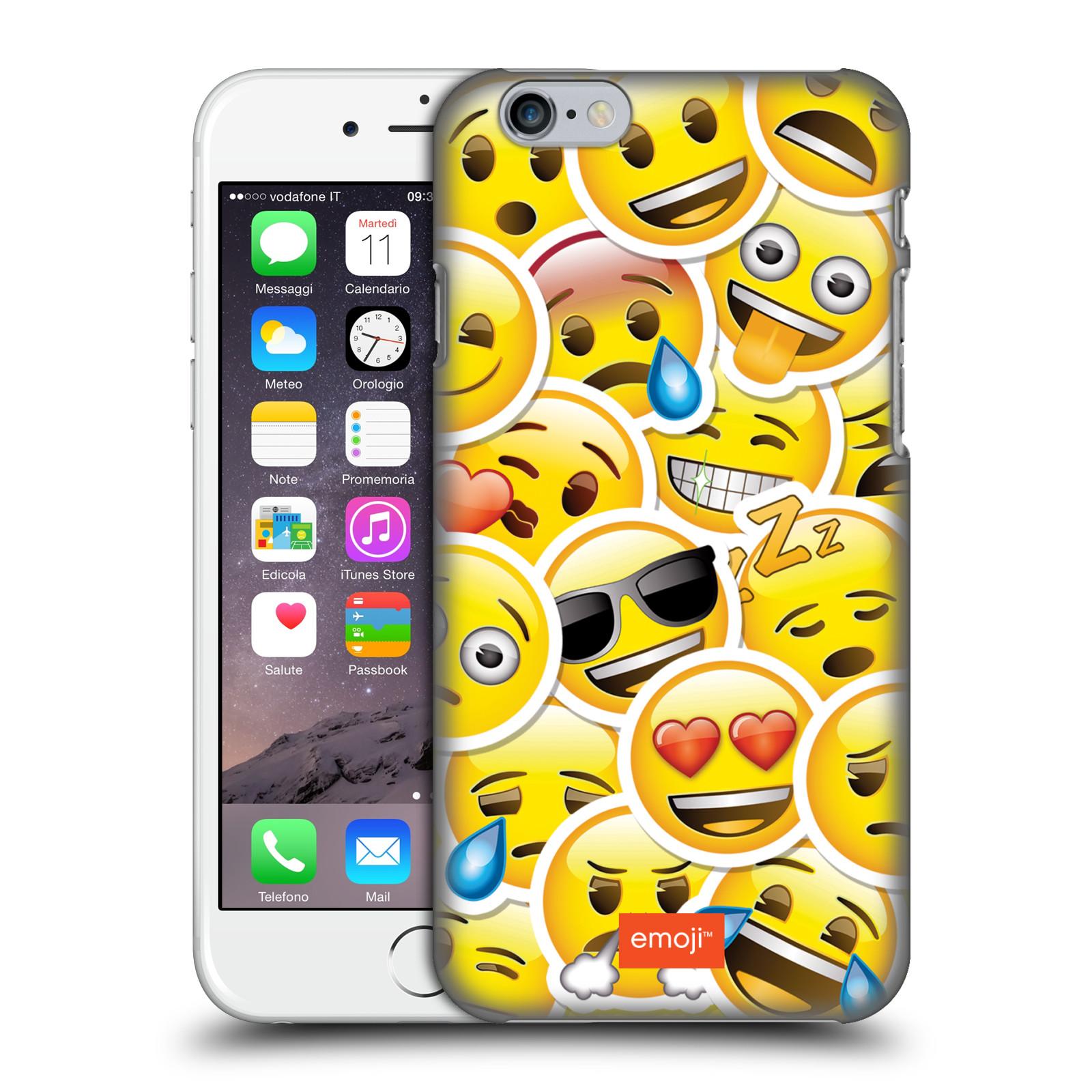 Plastové pouzdro na mobil Apple iPhone 6 HEAD CASE EMOJI - Velcí smajlíci ZZ