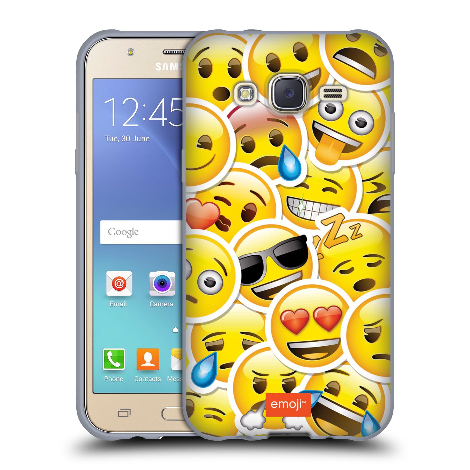 HEAD CASE silikonový obal na mobil Samsung Galaxy J5 2015 (J500) smajlík  oficiální kryt EMOJI velcí smajlíci nálepky c3505d299c7