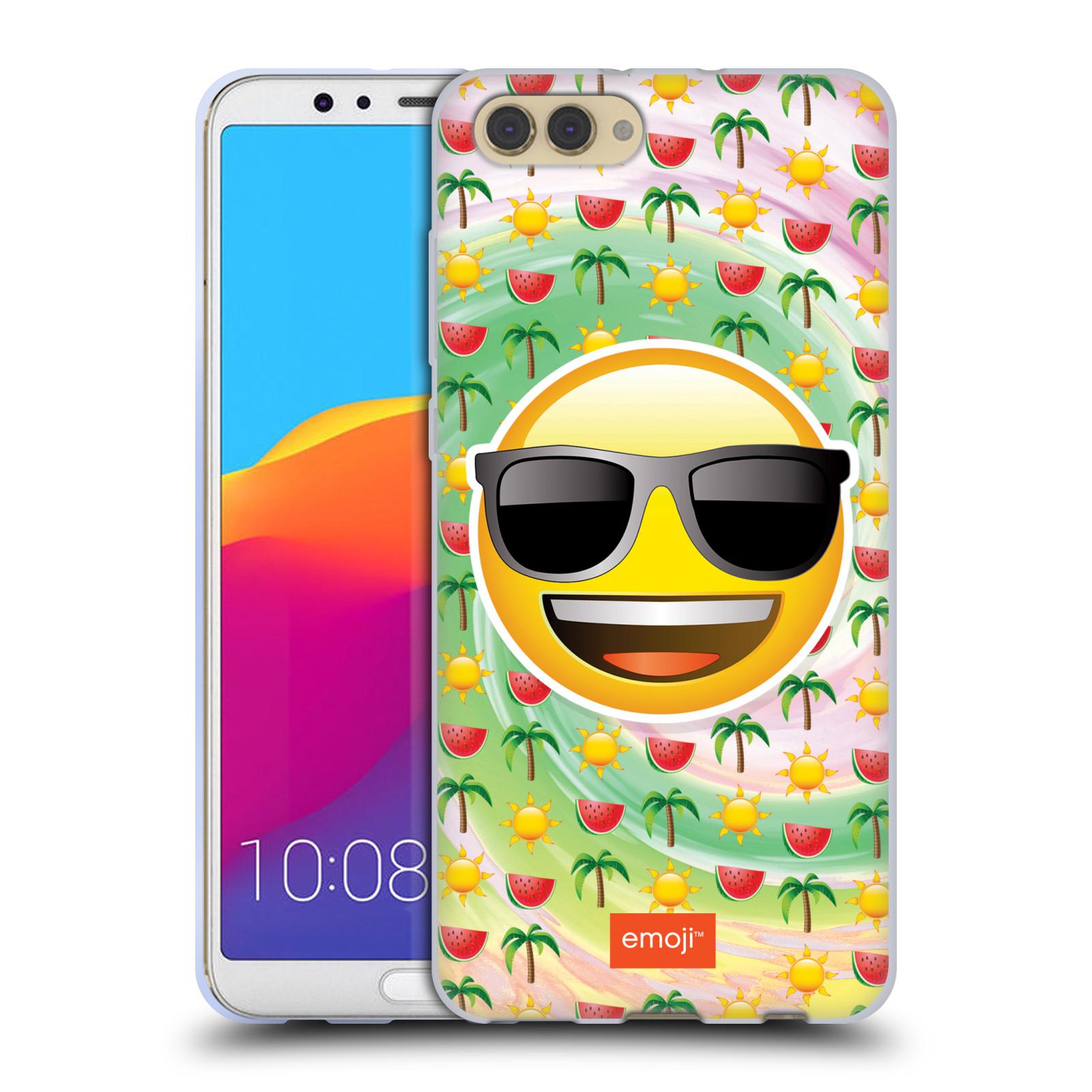 HEAD CASE silikonový obal na mobil Huawei HONOR VIEW 10 / V10 smajlík oficiální kryt EMOJI velký smajlík léto