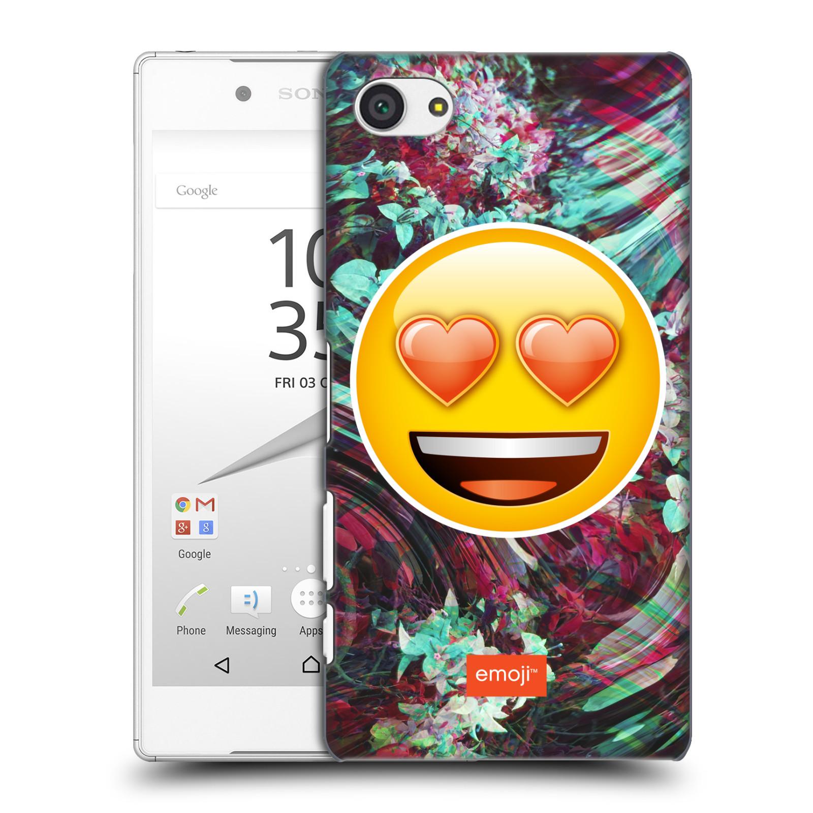 Pouzdro na mobil Sony Xperia Z5 COMPACT - HEAD CASE - Emoji smajlík srdíčka v očích