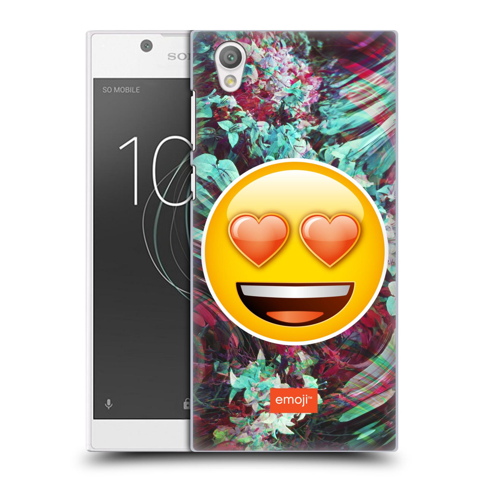 Pouzdro na mobil Sony Xperia L1 - HEAD CASE - Emoji smajlík srdíčka v očích