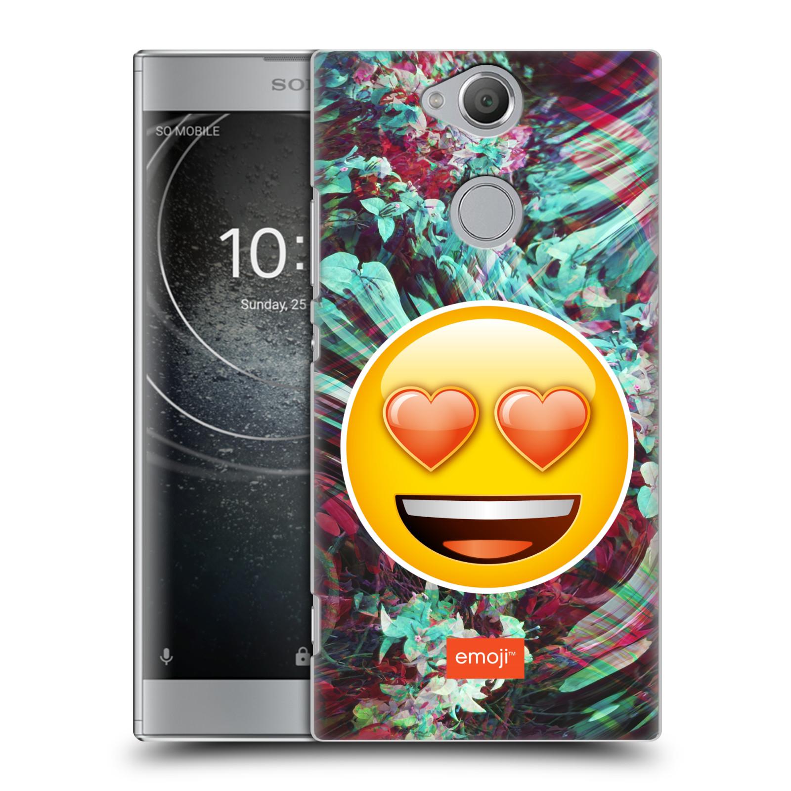 Pouzdro na mobil Sony Xperia XA2 - HEAD CASE - Emoji smajlík srdíčka v očích