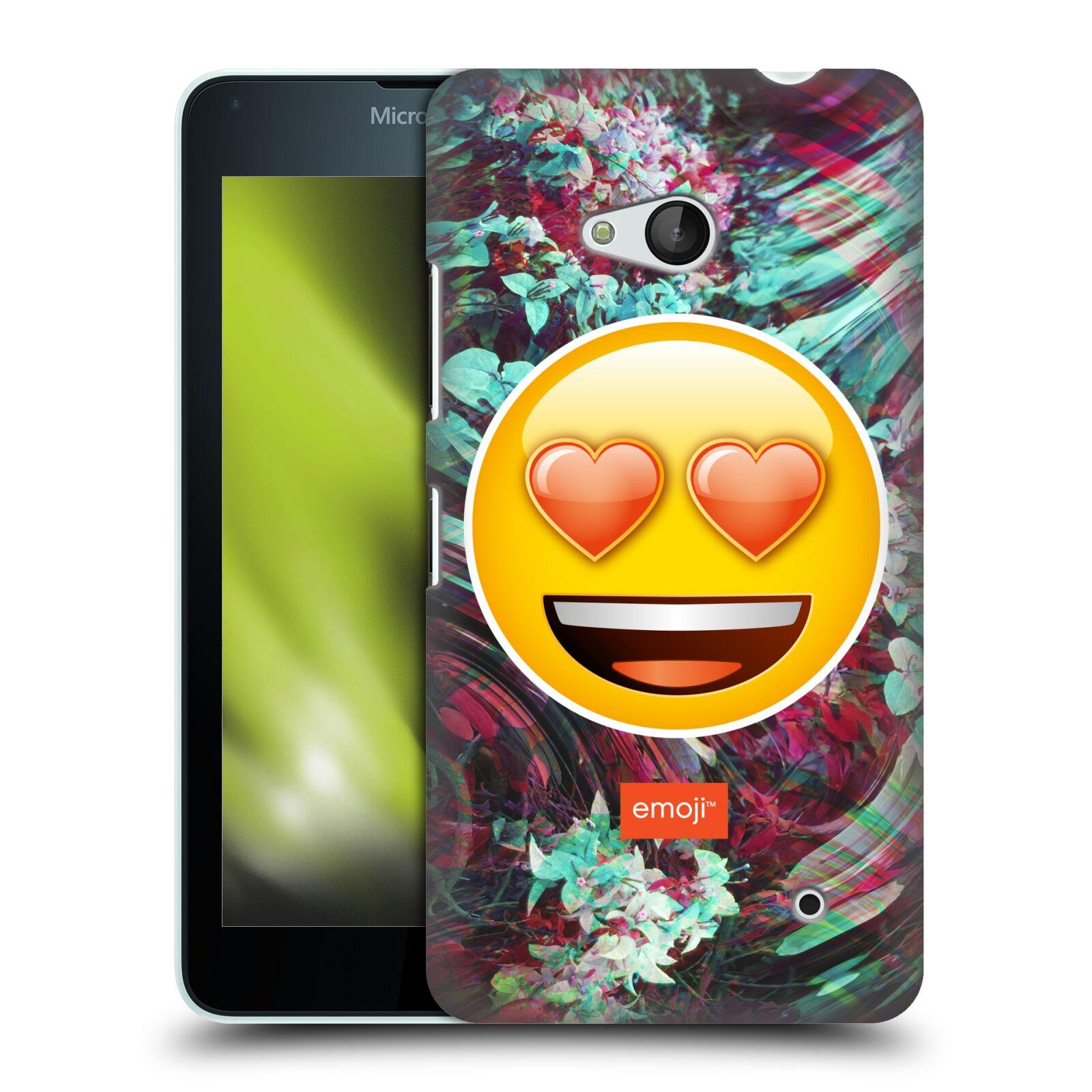 Pouzdro na mobil Microsoft Lumia 640 / 640 DUAL SIM - HEAD CASE - Emoji smajlík srdíčka v očích