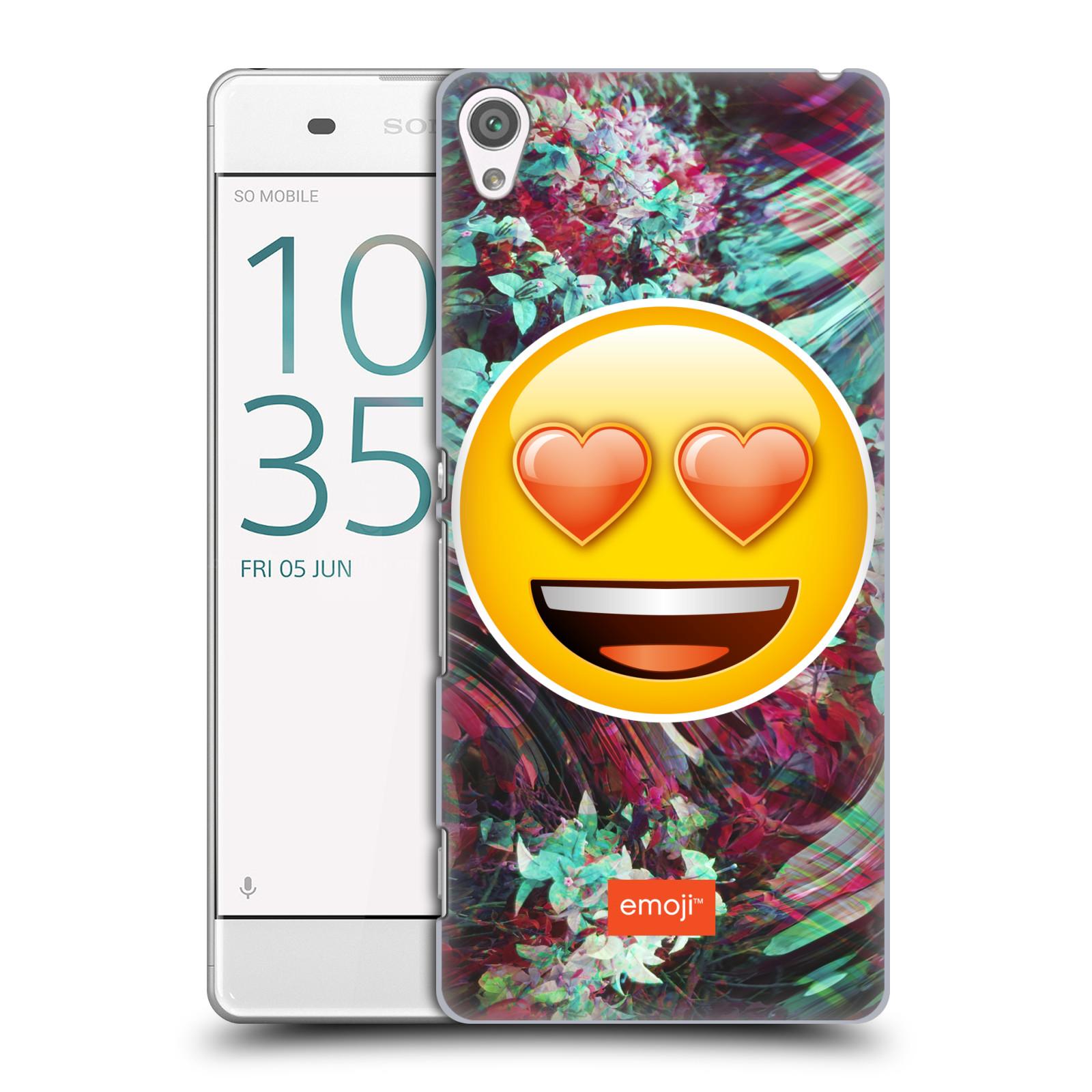 Pouzdro na mobil Sony Xperia XA - HEAD CASE - Emoji smajlík srdíčka v očích