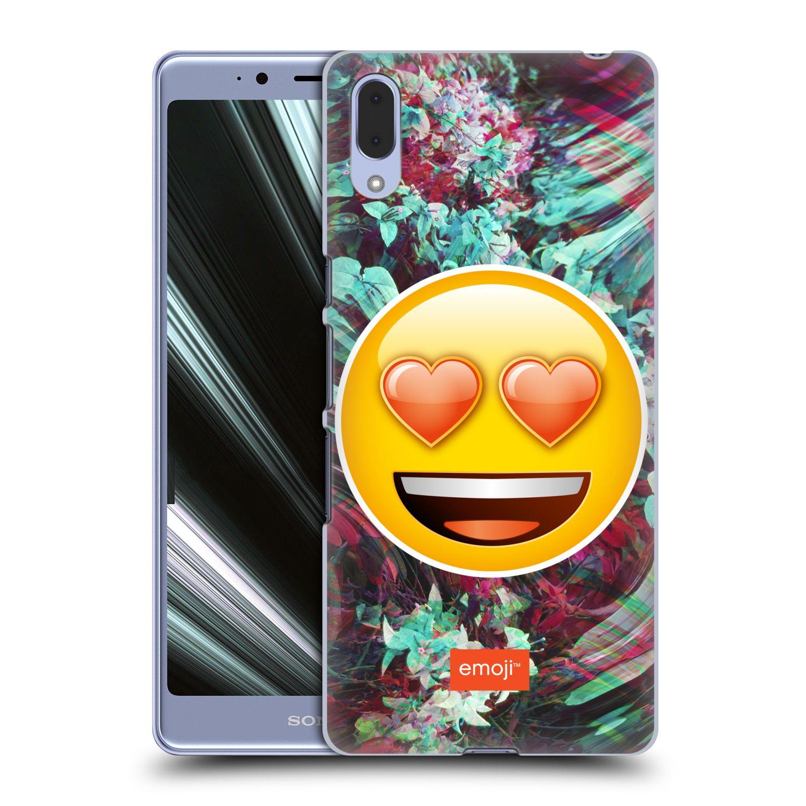Pouzdro na mobil Sony Xperia L3 - HEAD CASE - Emoji smajlík srdíčka v očích