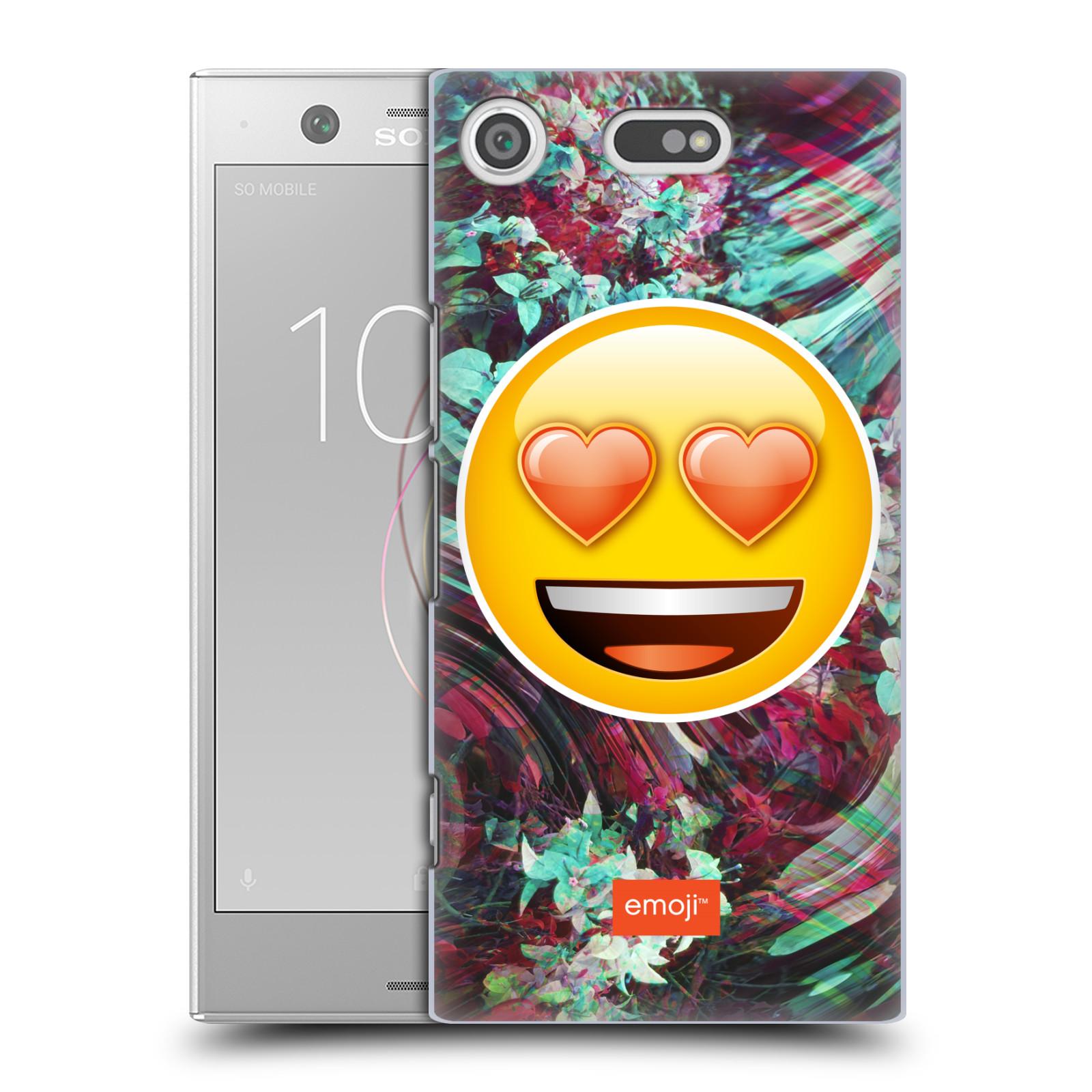 Pouzdro na mobil Sony Xperia XZ1 COMPACT - HEAD CASE - Emoji smajlík srdíčka v očích