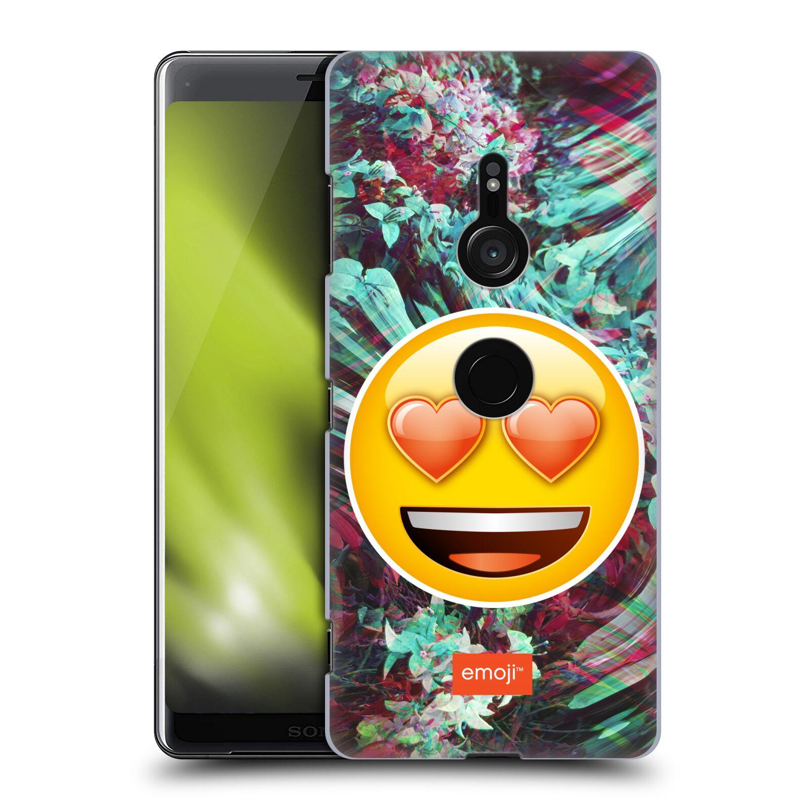 Pouzdro na mobil Sony Xperia XZ3 - HEAD CASE - Emoji smajlík srdíčka v očích