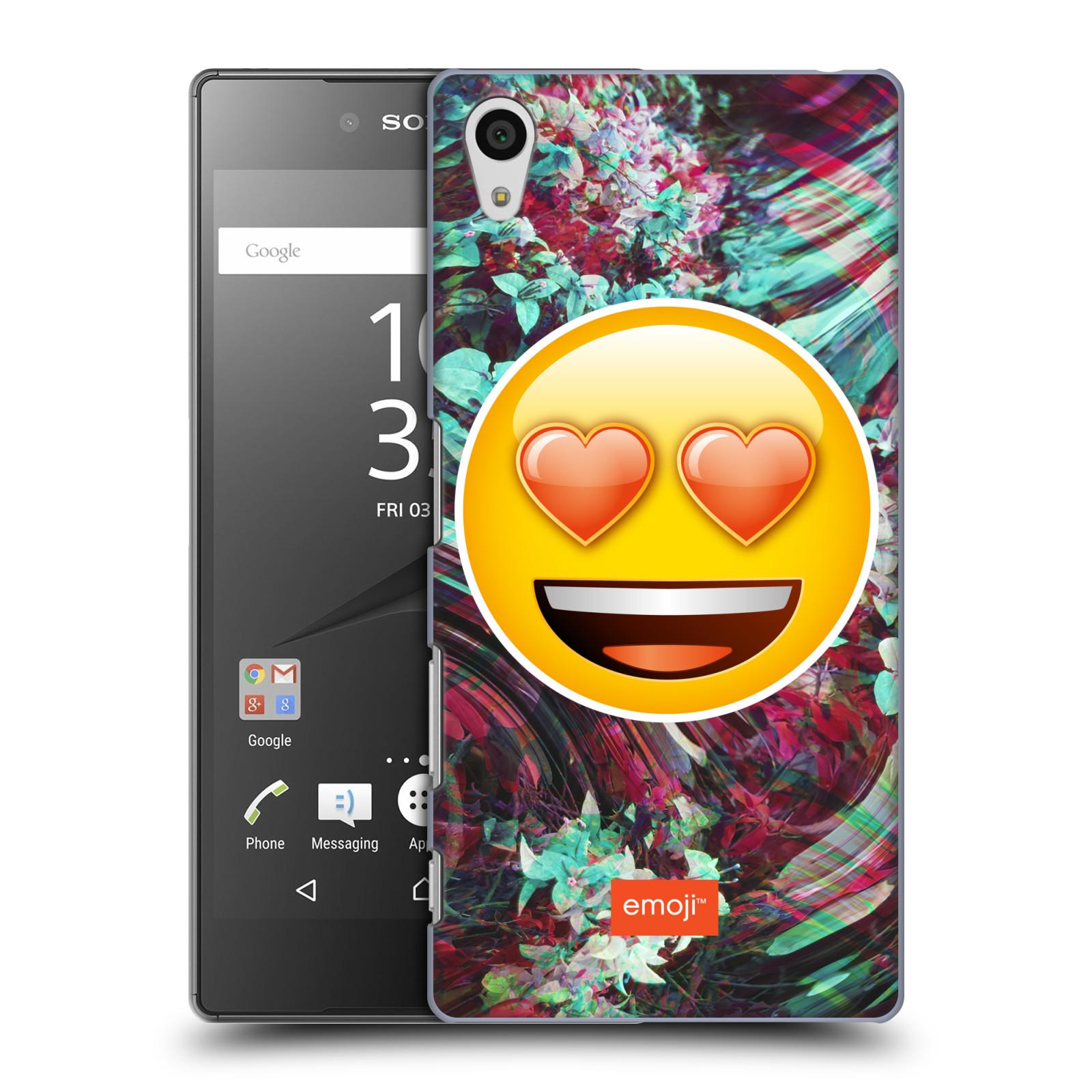 Pouzdro na mobil Sony Xperia Z5 - HEAD CASE - Emoji smajlík srdíčka v očích