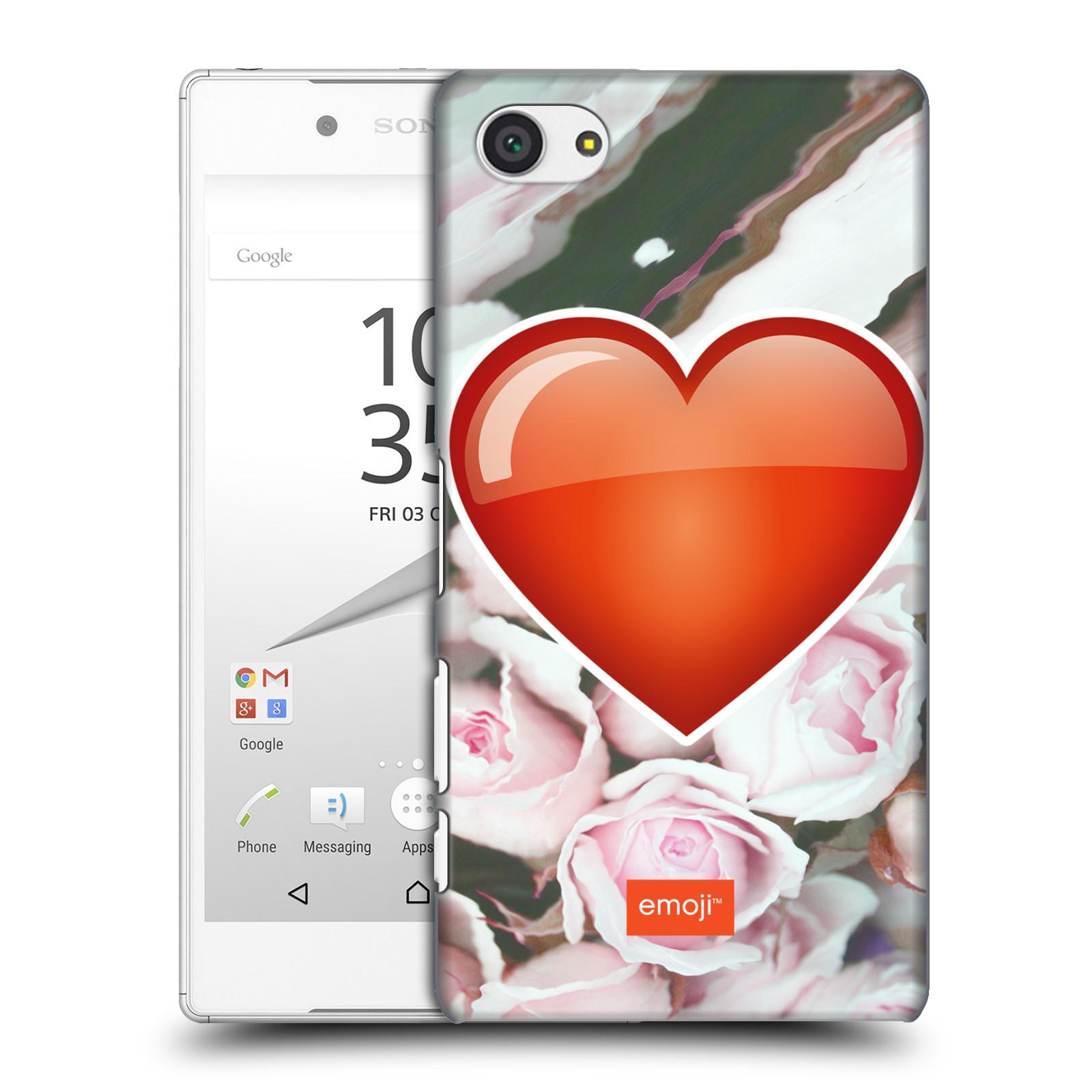 Pouzdro na mobil Sony Xperia Z5 COMPACT - HEAD CASE - Emoji srdíčko