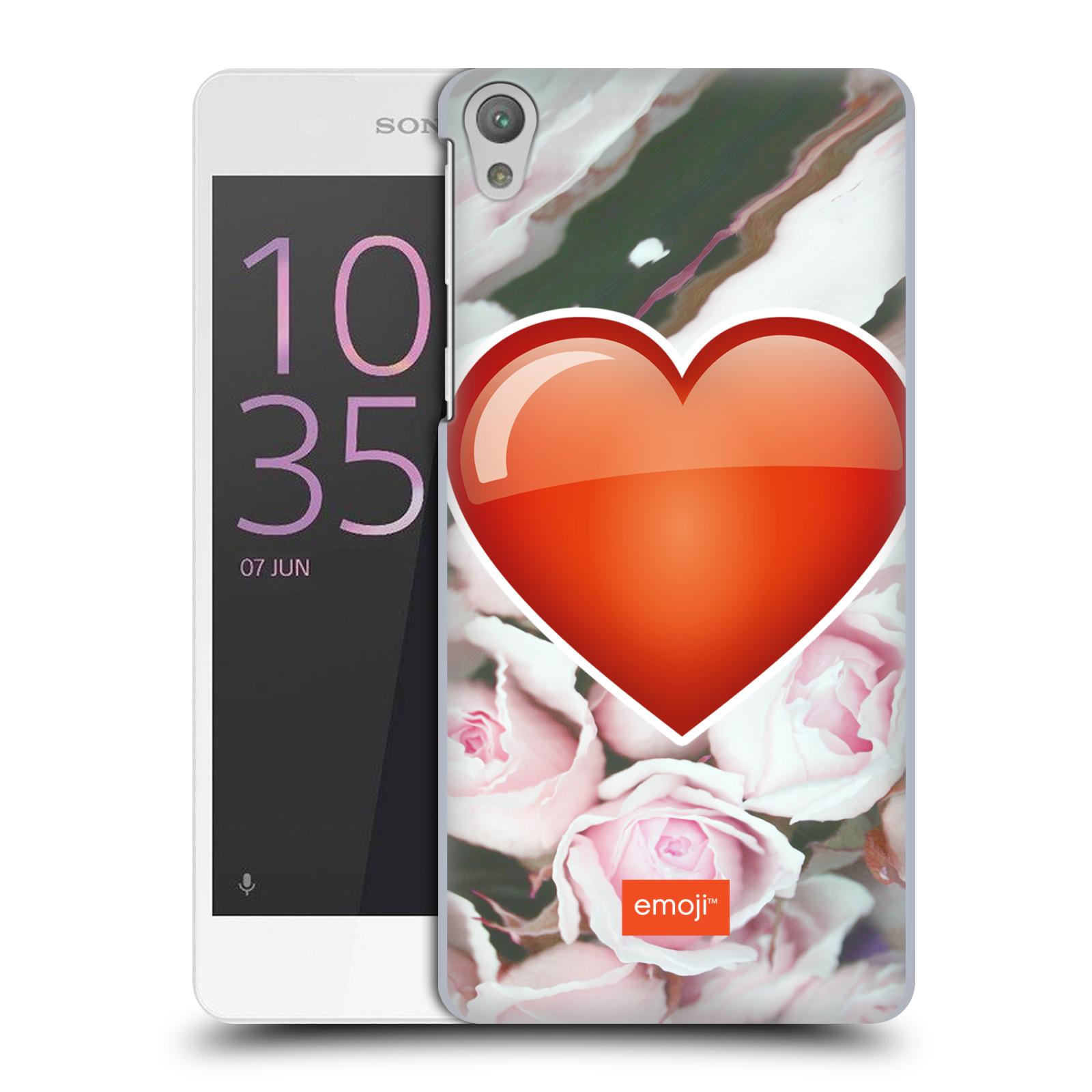 Pouzdro na mobil Sony Xperia E5 - HEAD CASE - Emoji srdíčko