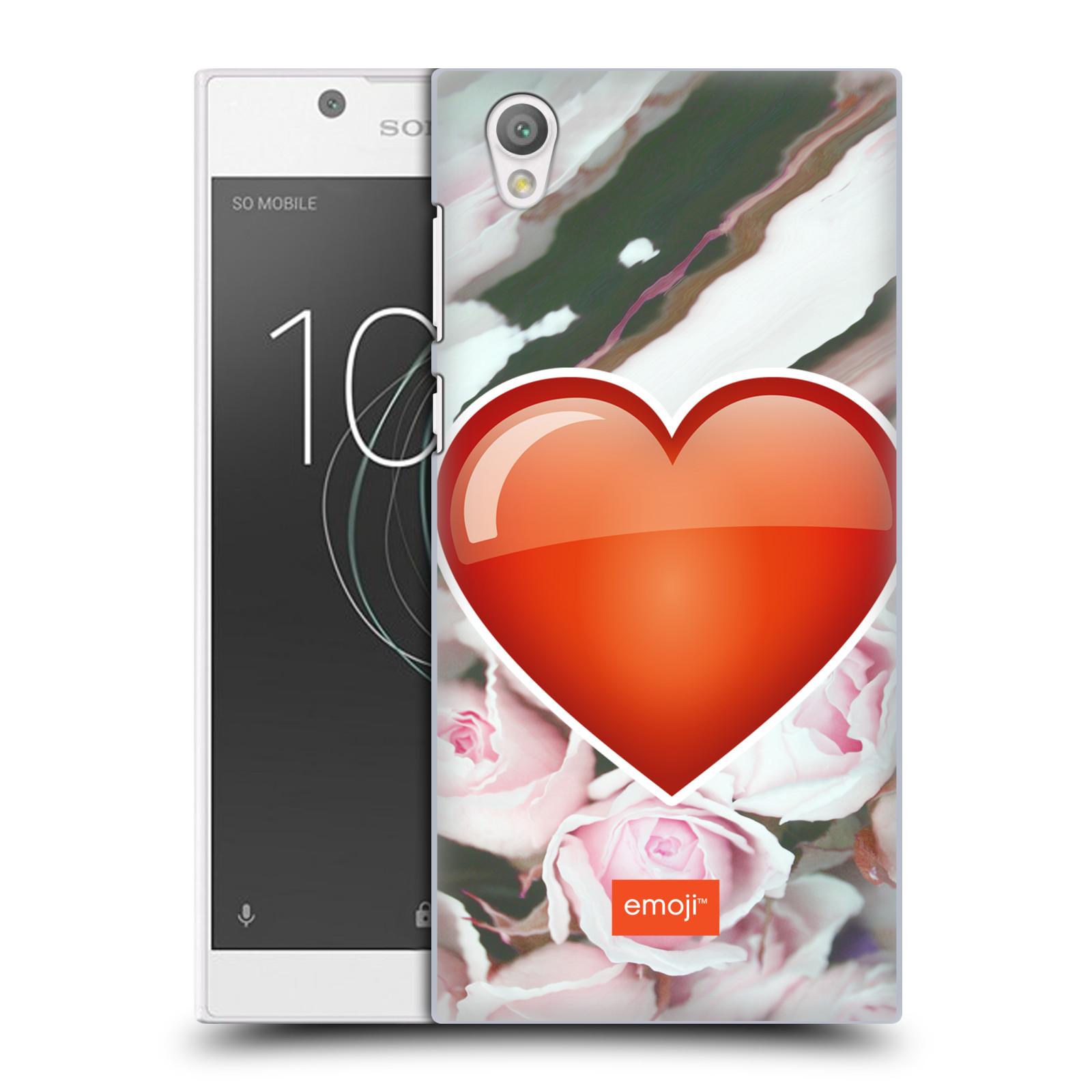 Pouzdro na mobil Sony Xperia L1 - HEAD CASE - Emoji srdíčko