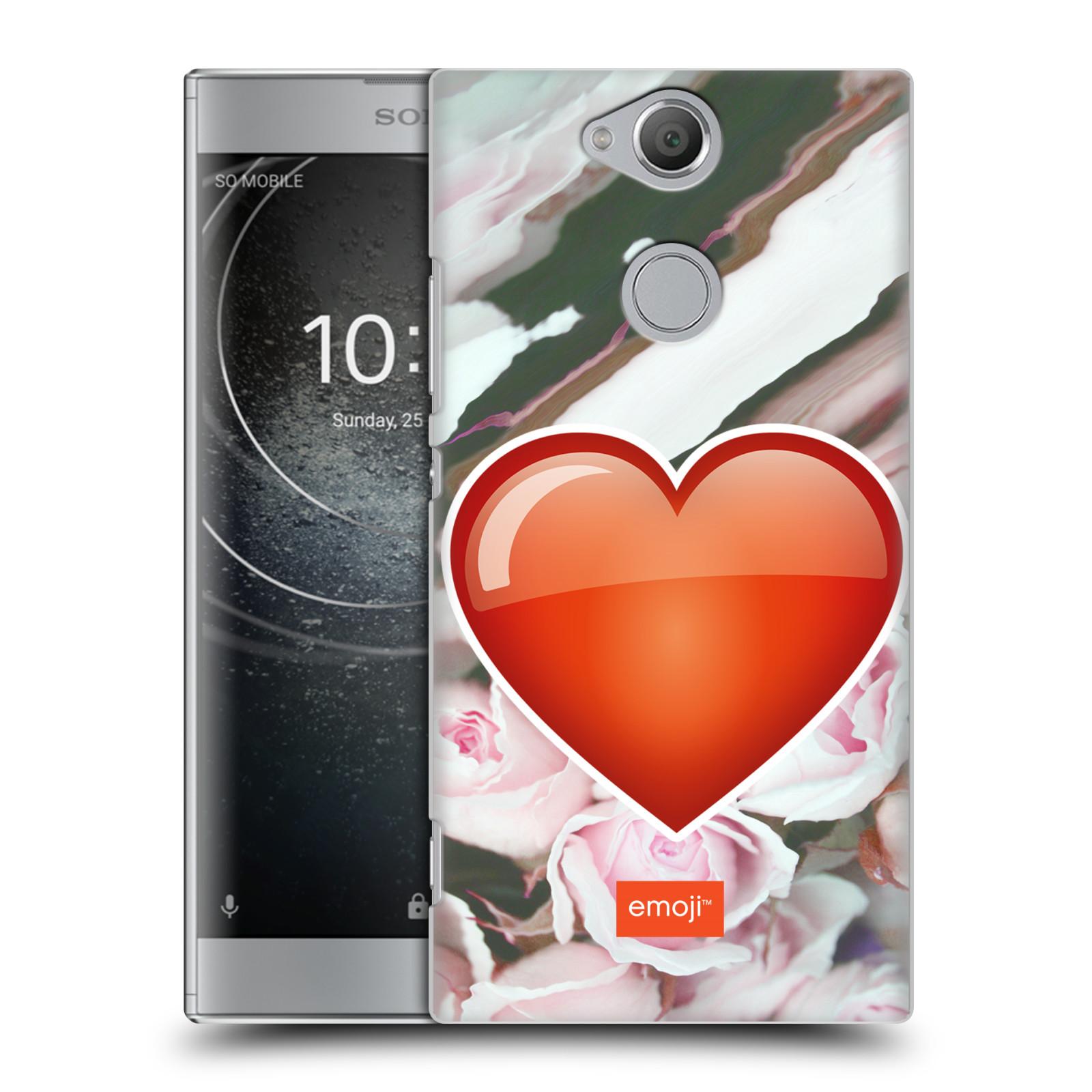 Pouzdro na mobil Sony Xperia XA2 - HEAD CASE - Emoji srdíčko