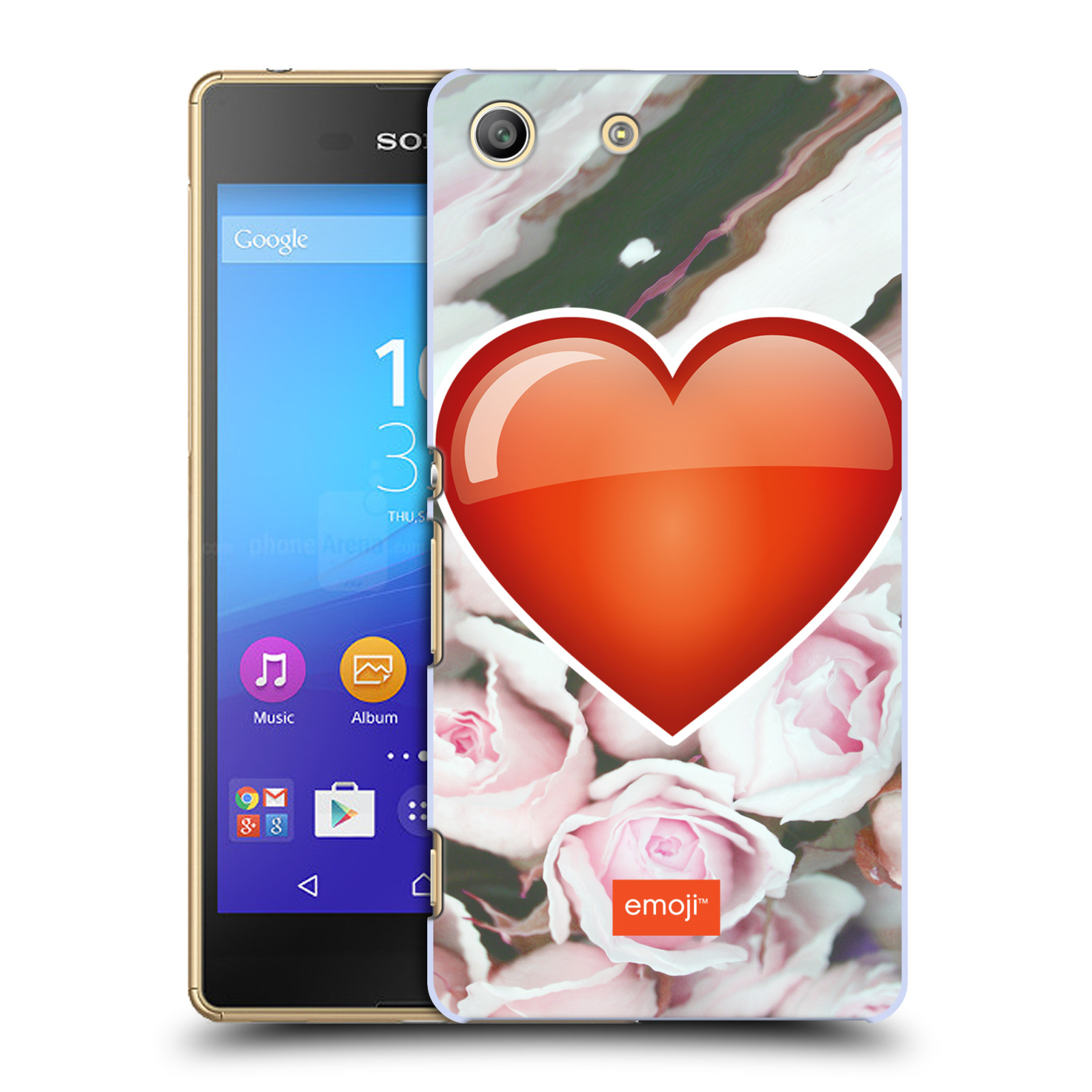 Pouzdro na mobil Sony Xperia M5 - HEAD CASE - Emoji srdíčko