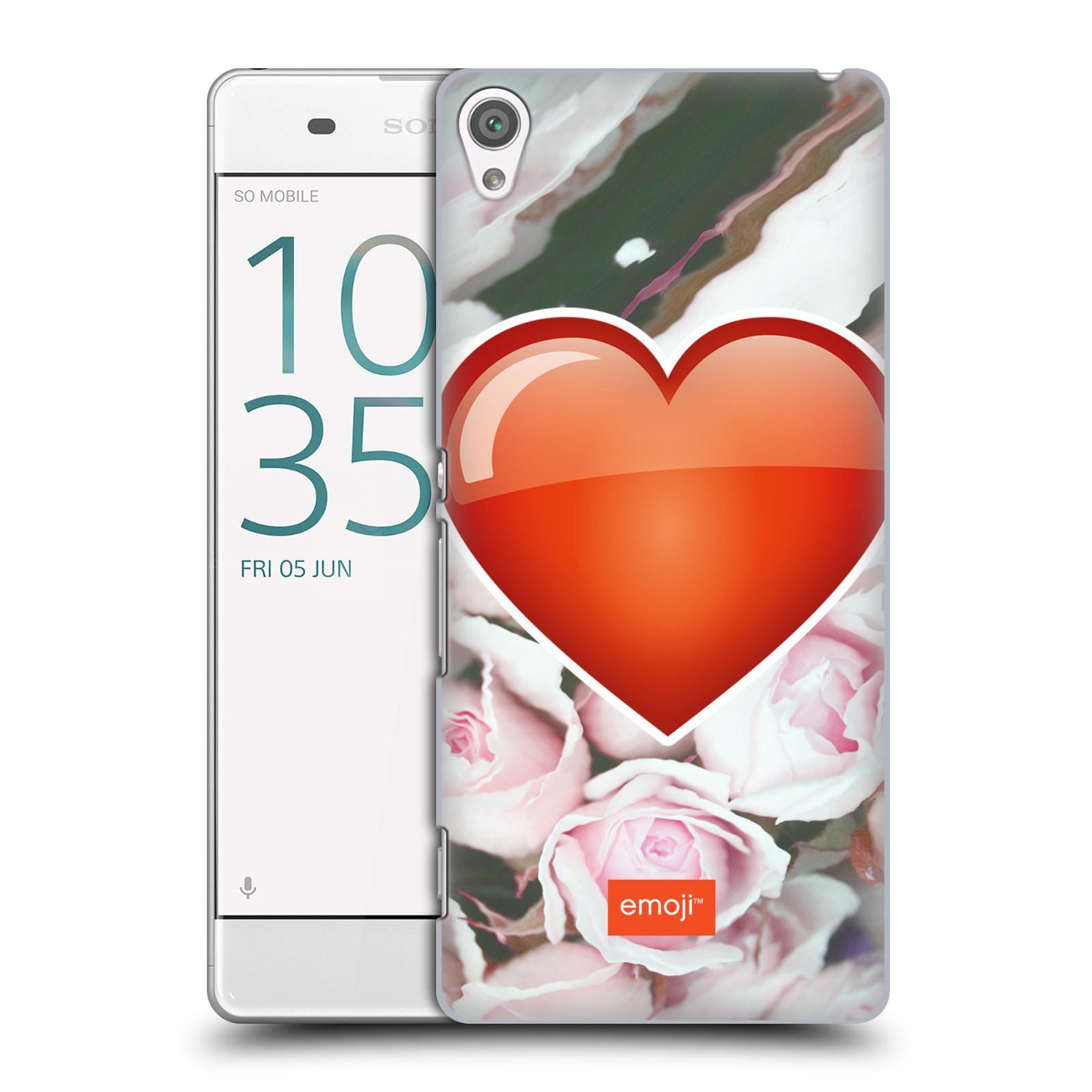 Pouzdro na mobil Sony Xperia XA - HEAD CASE - Emoji srdíčko
