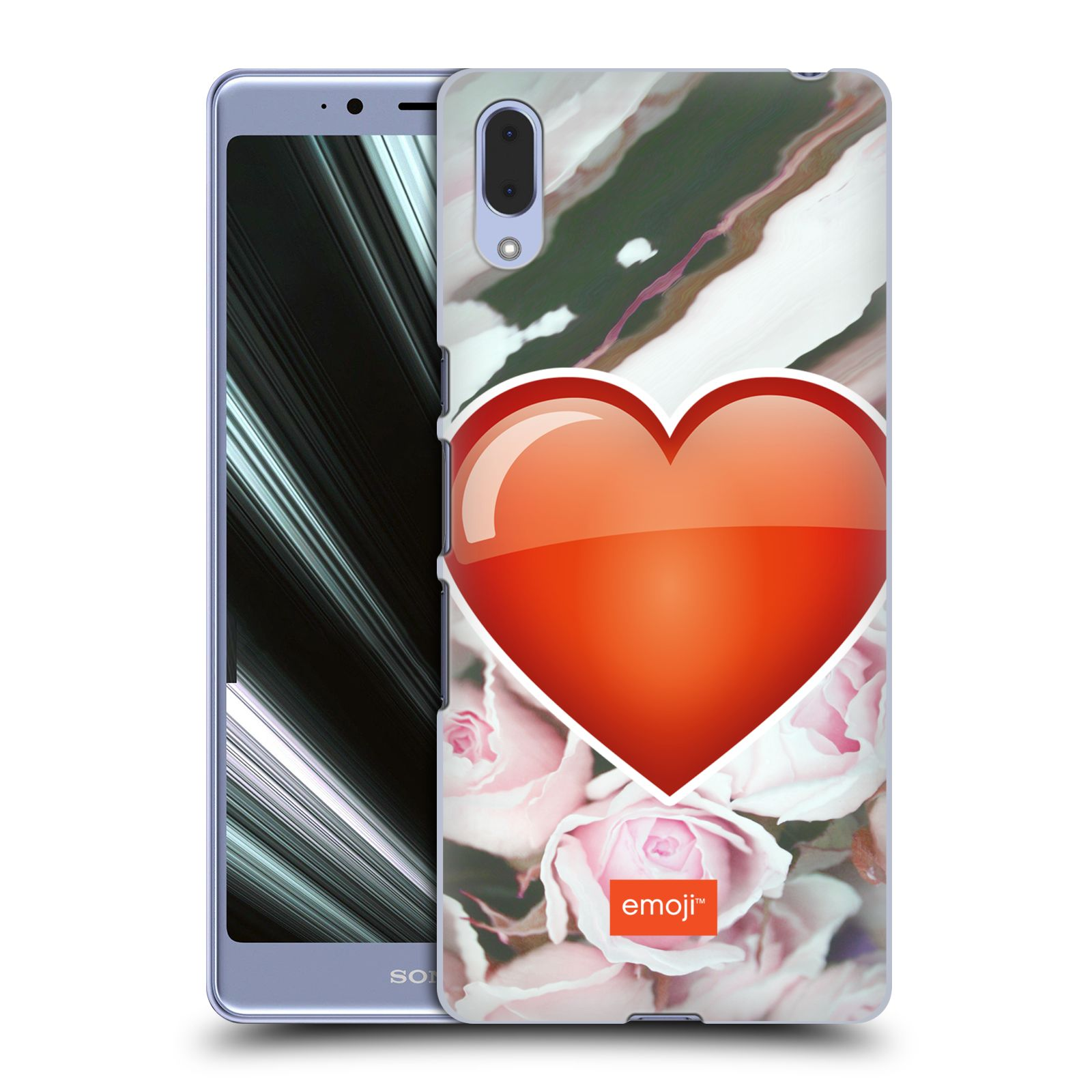 Pouzdro na mobil Sony Xperia L3 - HEAD CASE - Emoji srdíčko
