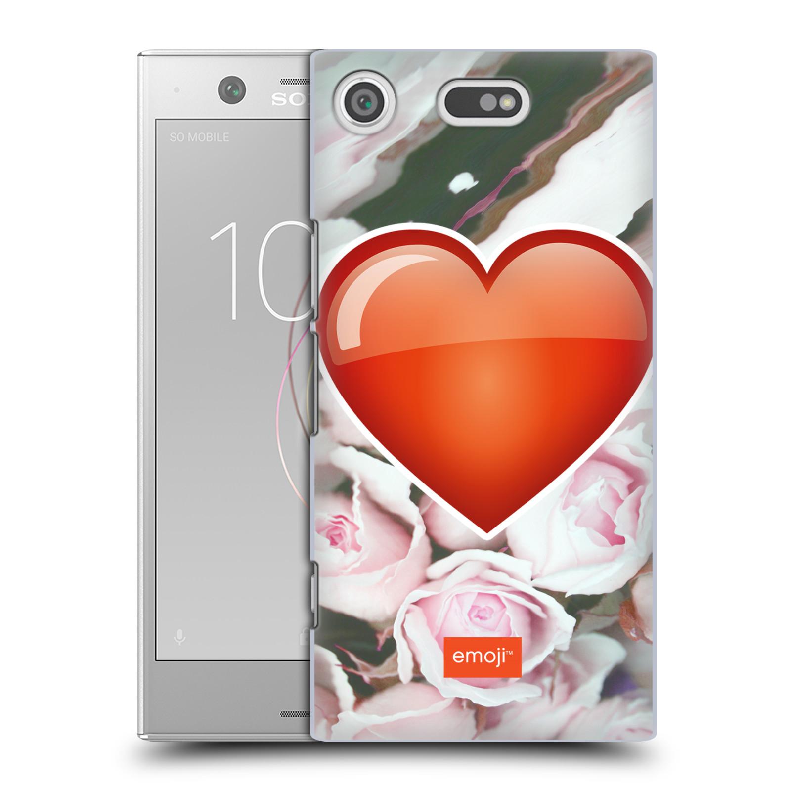 Pouzdro na mobil Sony Xperia XZ1 COMPACT - HEAD CASE - Emoji srdíčko