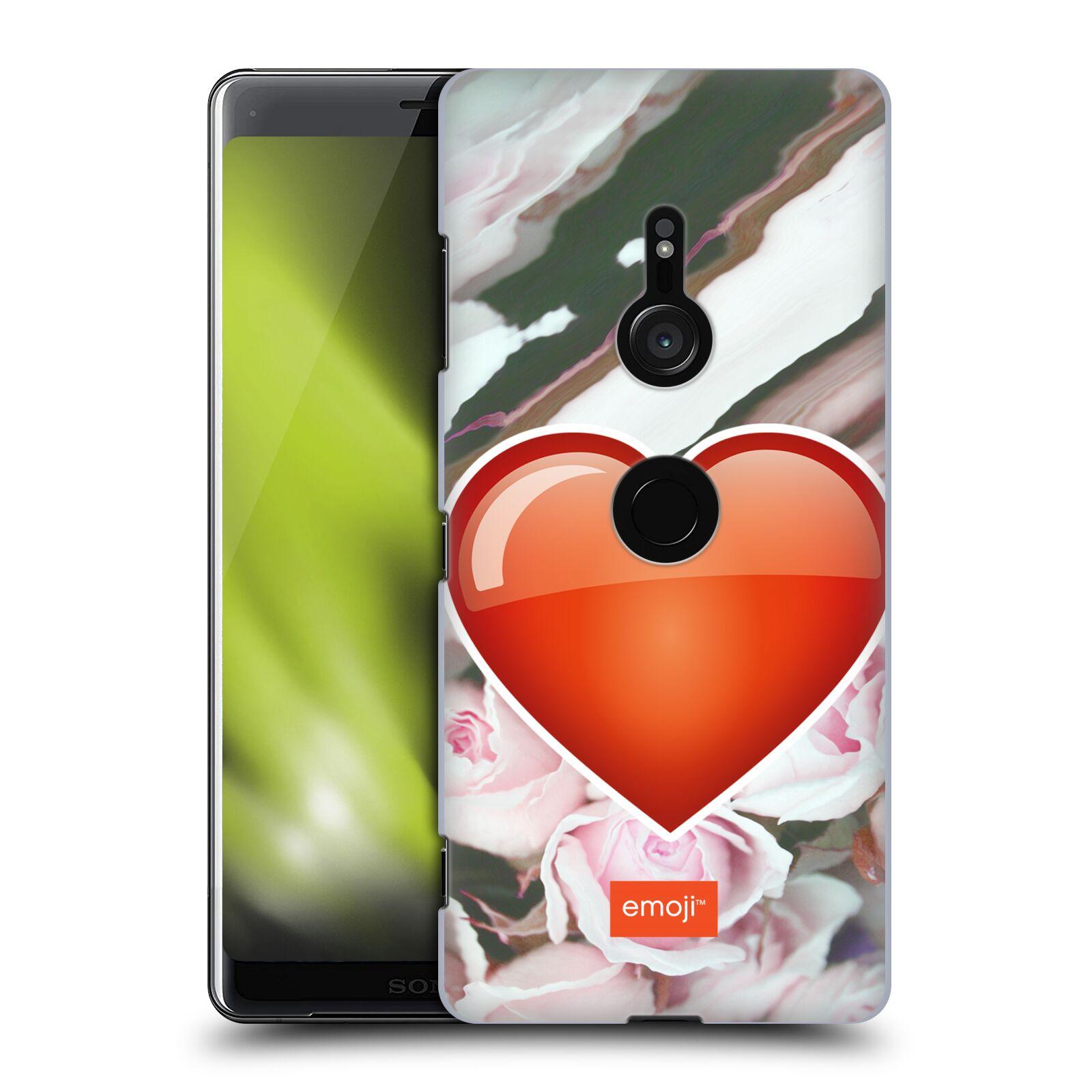 Pouzdro na mobil Sony Xperia XZ3 - HEAD CASE - Emoji srdíčko