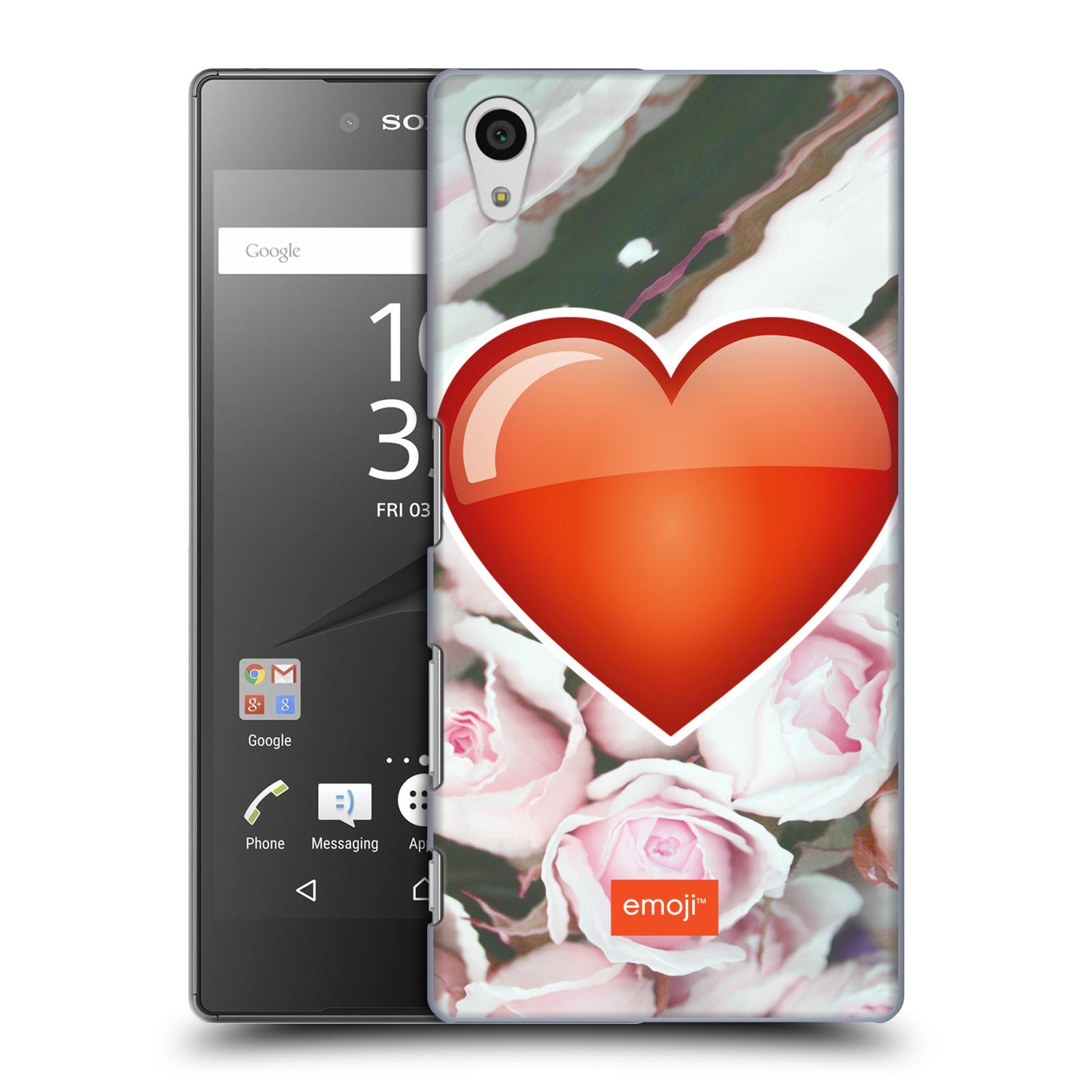 Pouzdro na mobil Sony Xperia Z5 - HEAD CASE - Emoji srdíčko