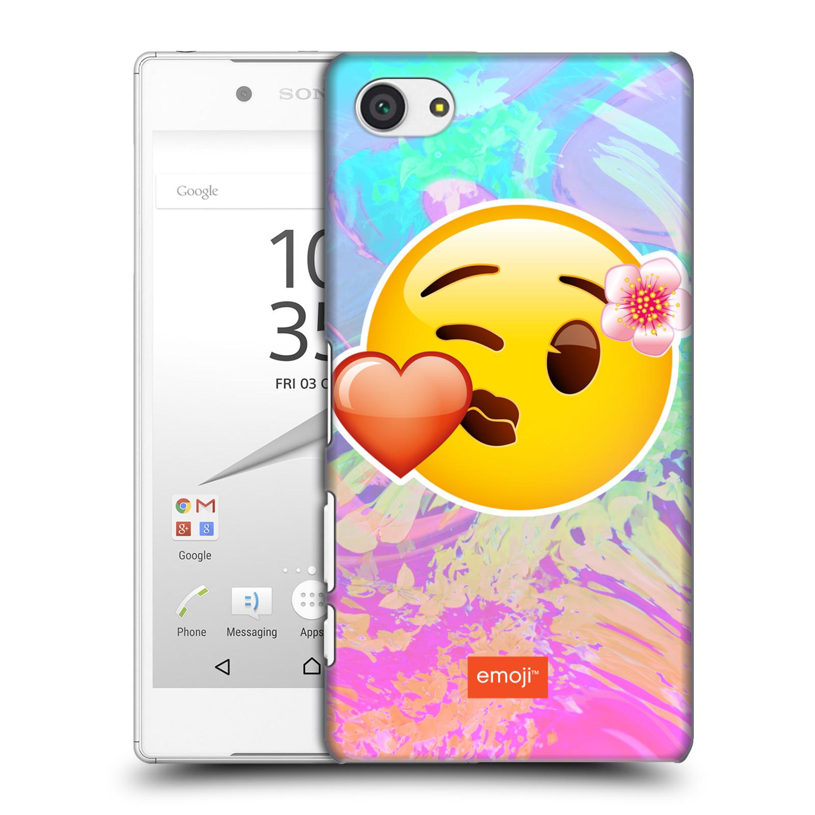 Pouzdro na mobil Sony Xperia Z5 COMPACT - HEAD CASE - Emoji smajlík pusinka