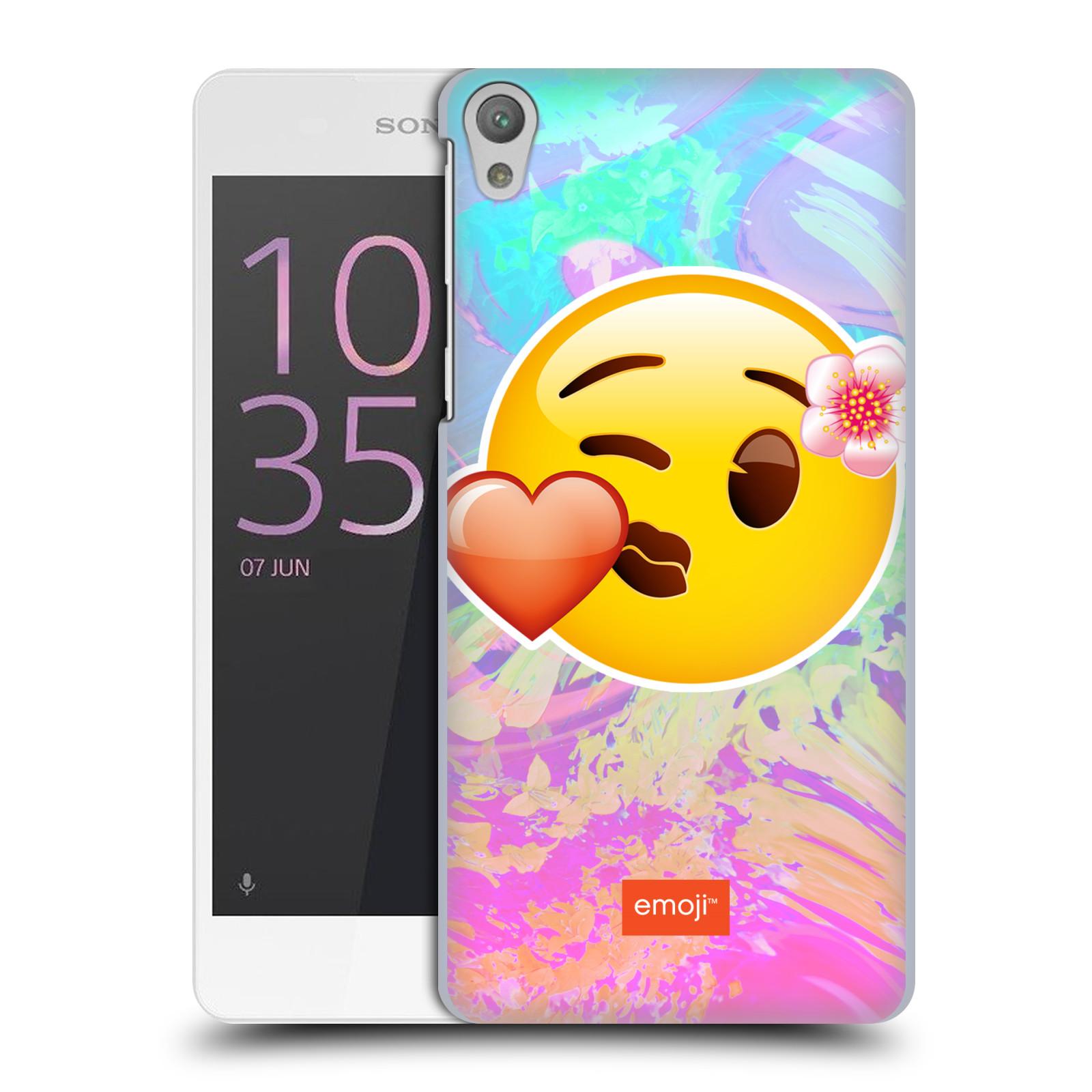 Pouzdro na mobil Sony Xperia E5 - HEAD CASE - Emoji smajlík pusinka