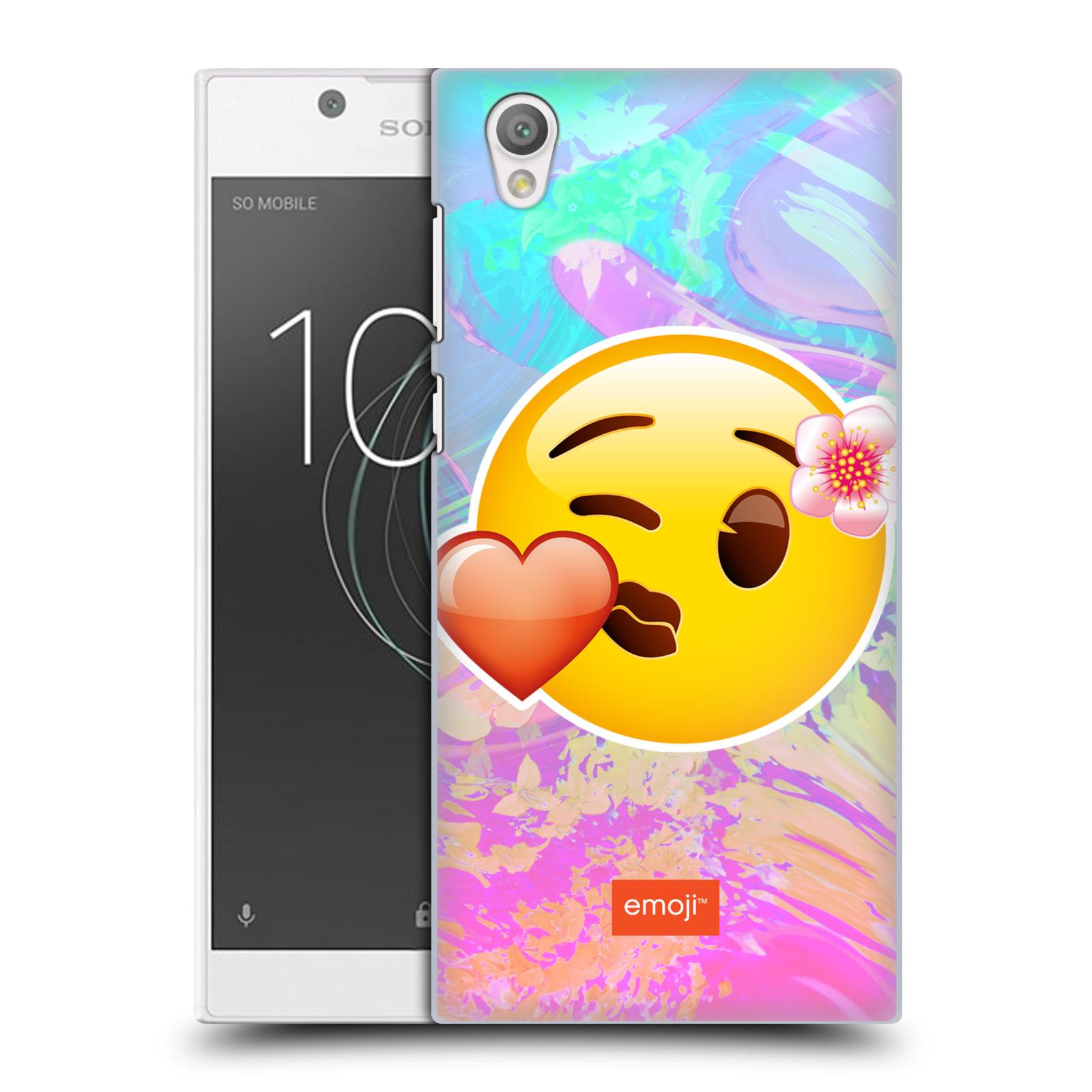 Pouzdro na mobil Sony Xperia L1 - HEAD CASE - Emoji smajlík pusinka