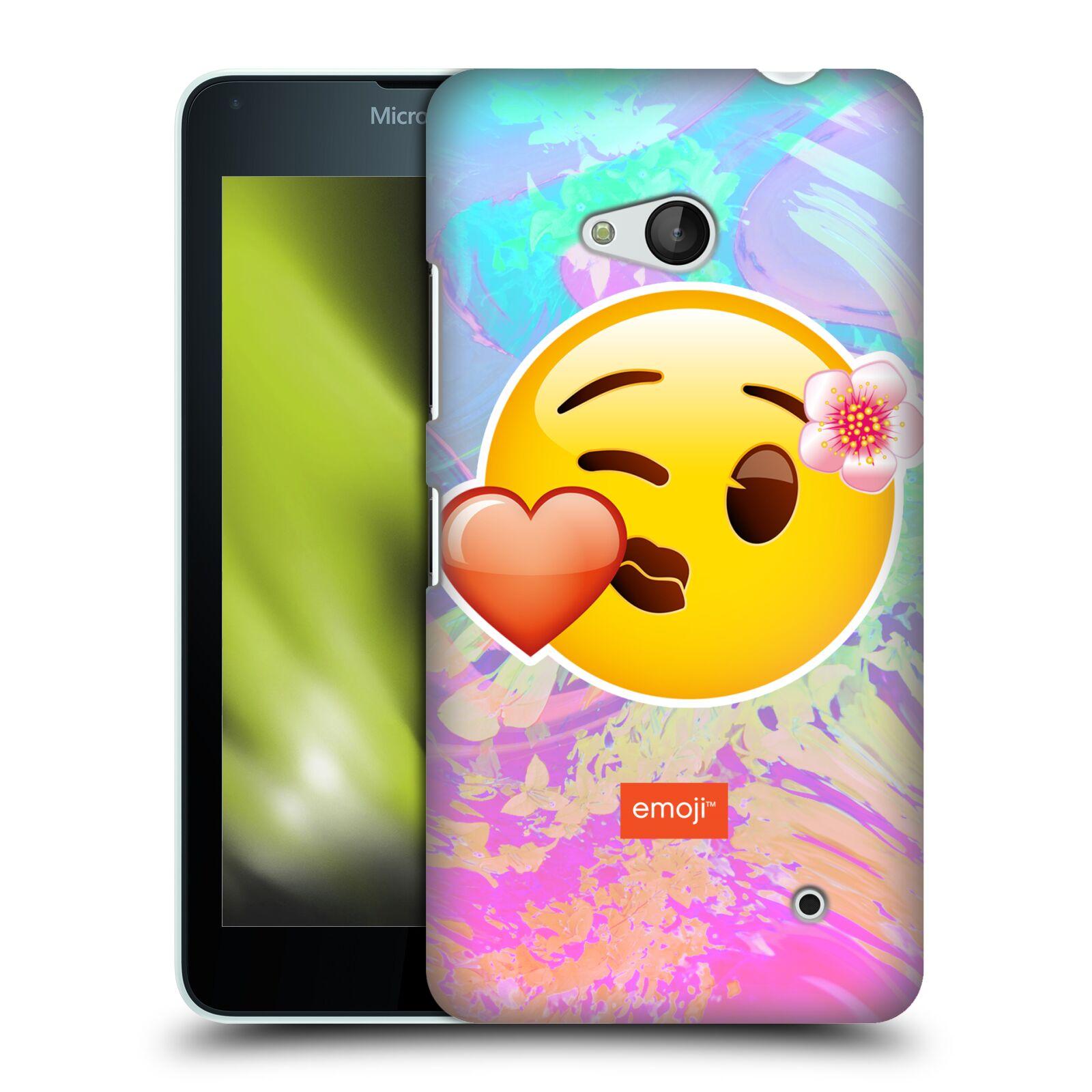 Pouzdro na mobil Microsoft Lumia 640 / 640 DUAL SIM - HEAD CASE - Emoji smajlík pusinka