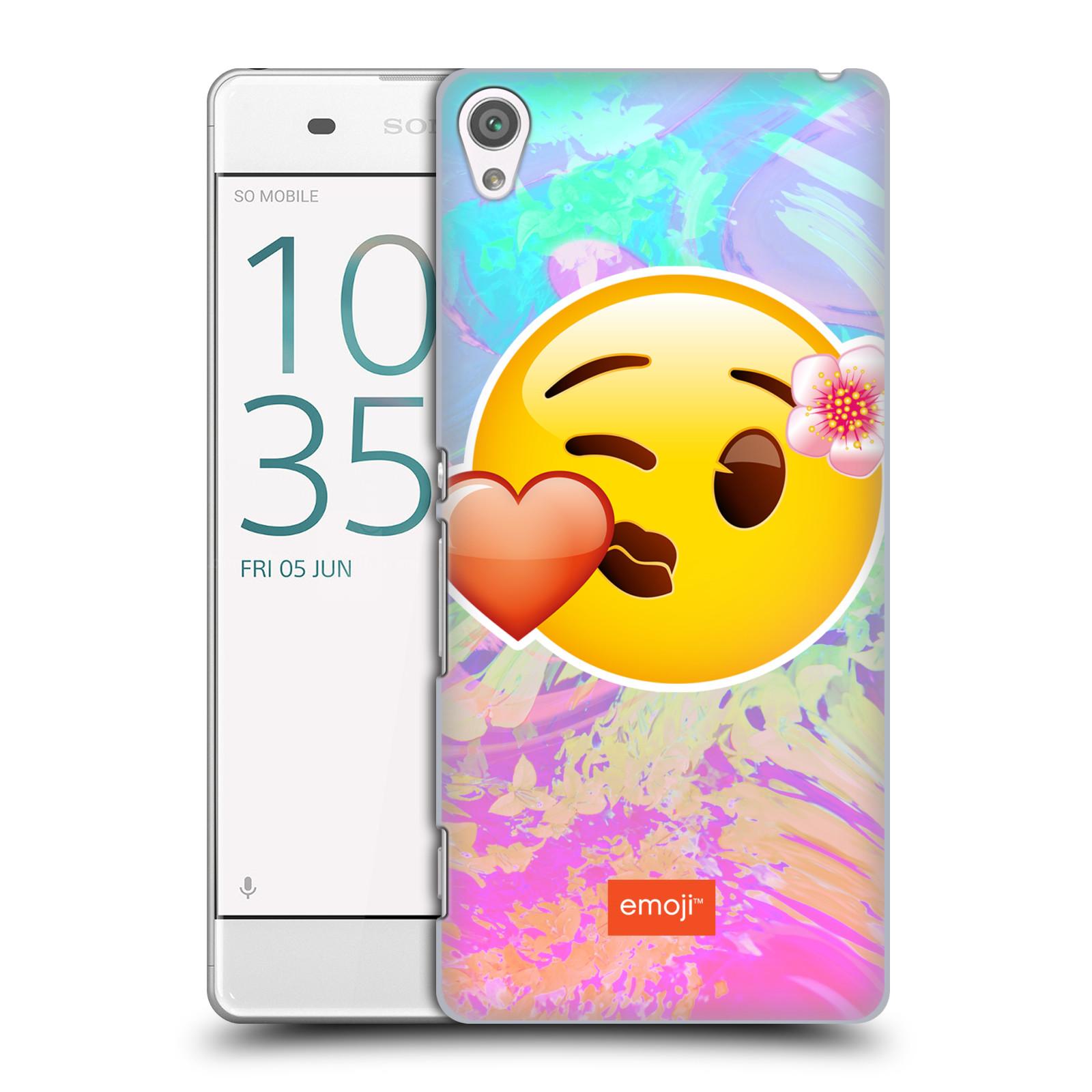 Pouzdro na mobil Sony Xperia XA - HEAD CASE - Emoji smajlík pusinka