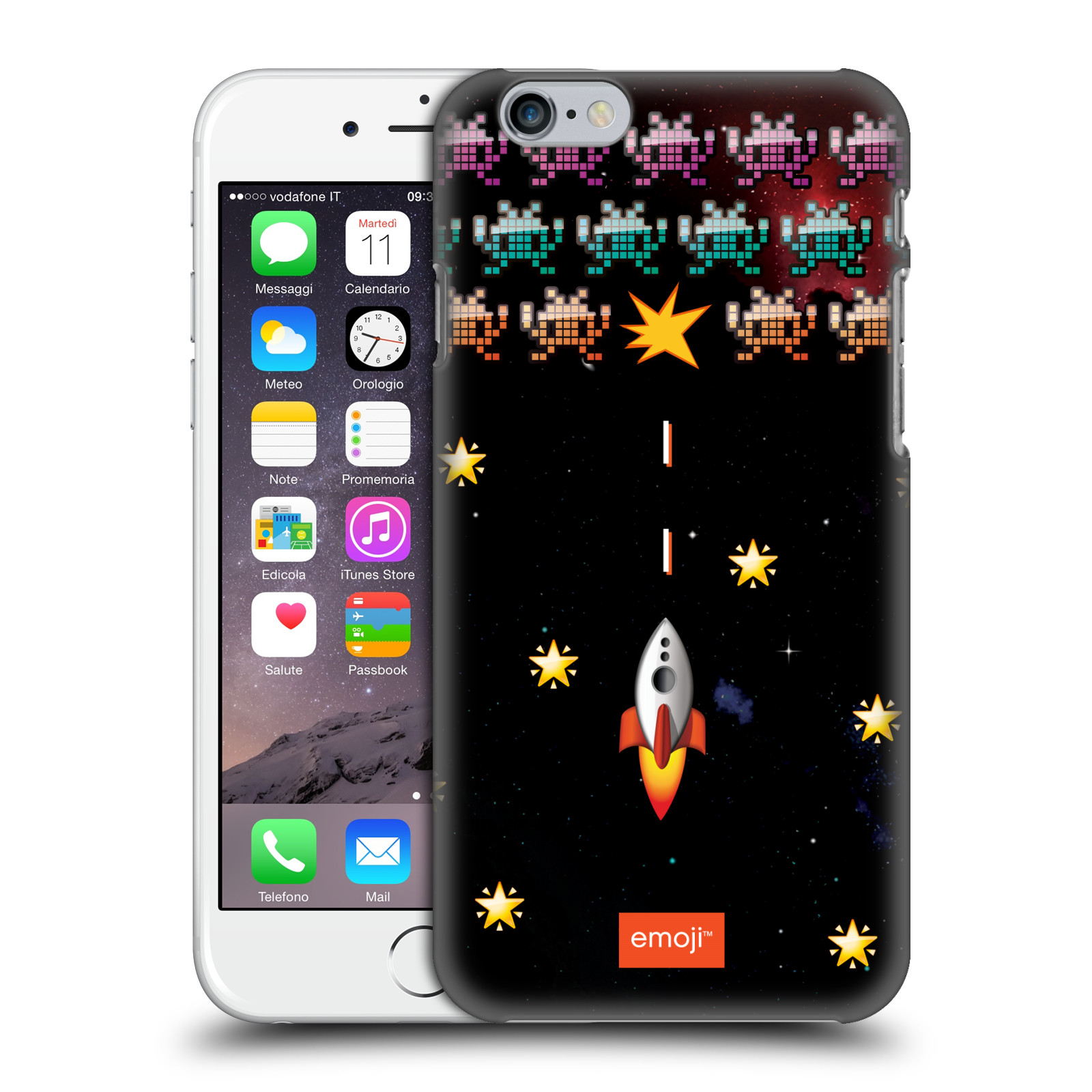 Android Bluetooth Keyboard Emoji: OFFICIAL EMOJI SPACE HARD BACK CASE FOR APPLE IPHONE PHONES