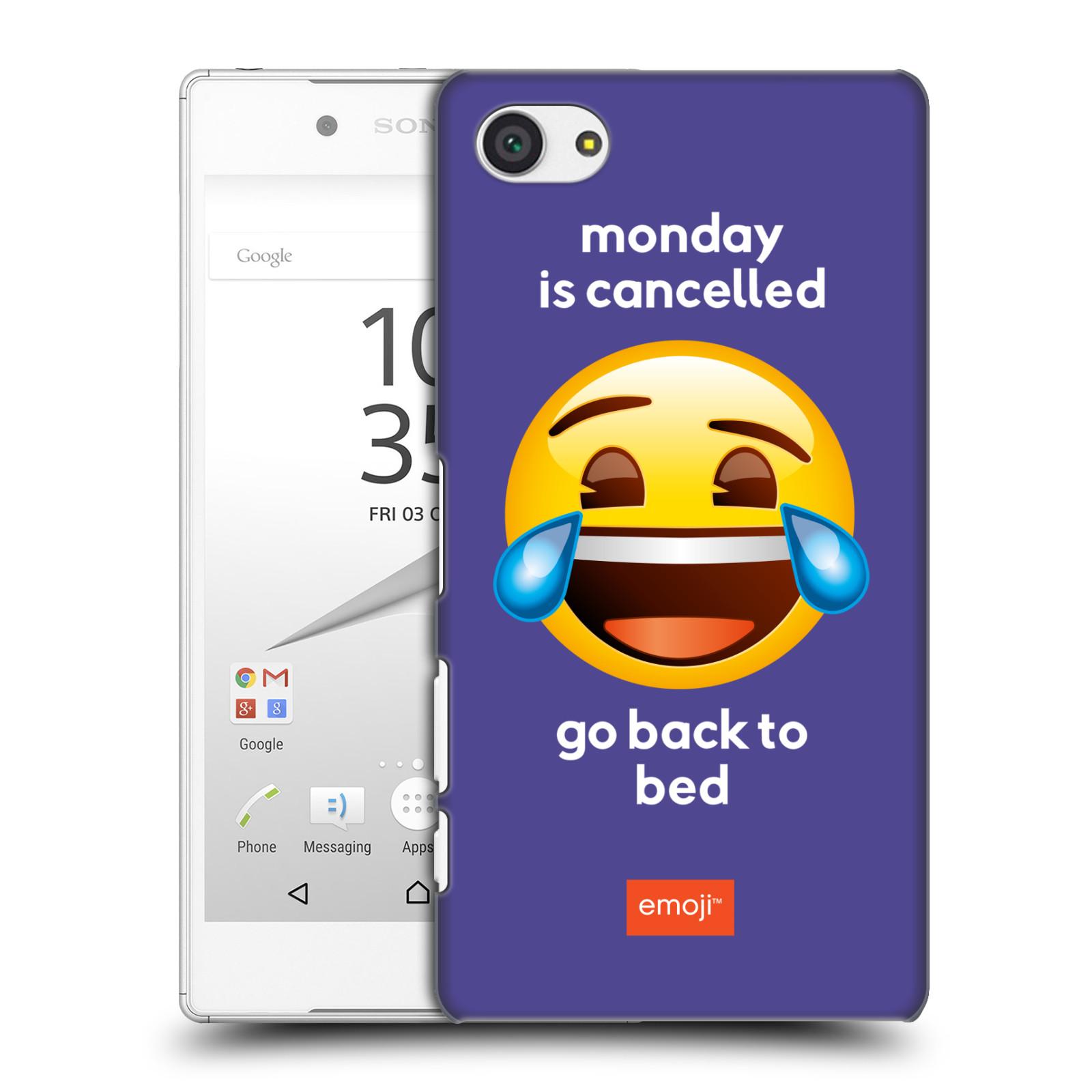 Pouzdro na mobil Sony Xperia Z5 COMPACT - HEAD CASE - Emoji smějící se smajlík pondělí